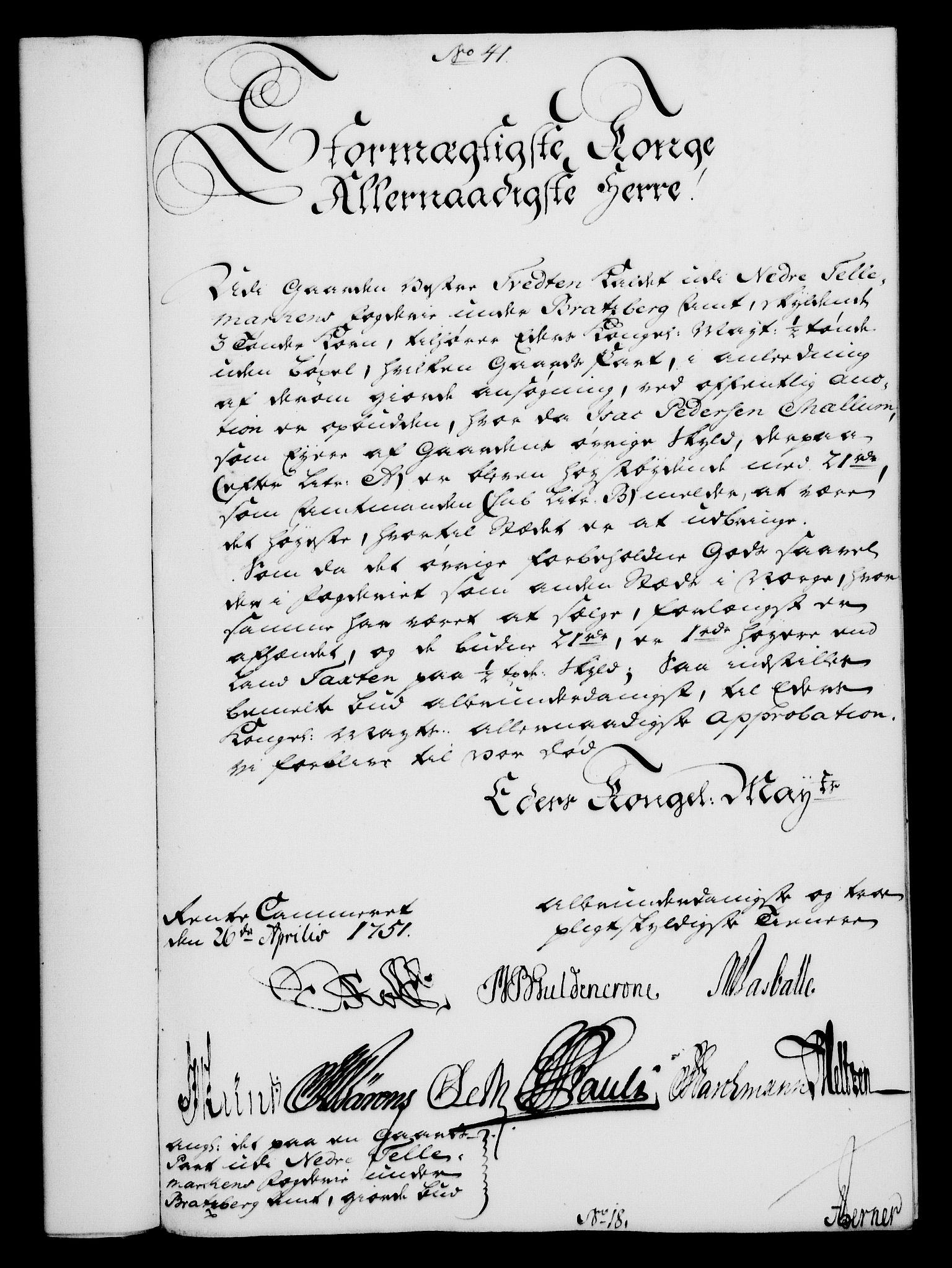 RA, Rentekammeret, Kammerkanselliet, G/Gf/Gfa/L0033: Norsk relasjons- og resolusjonsprotokoll (merket RK 52.33), 1751, s. 234