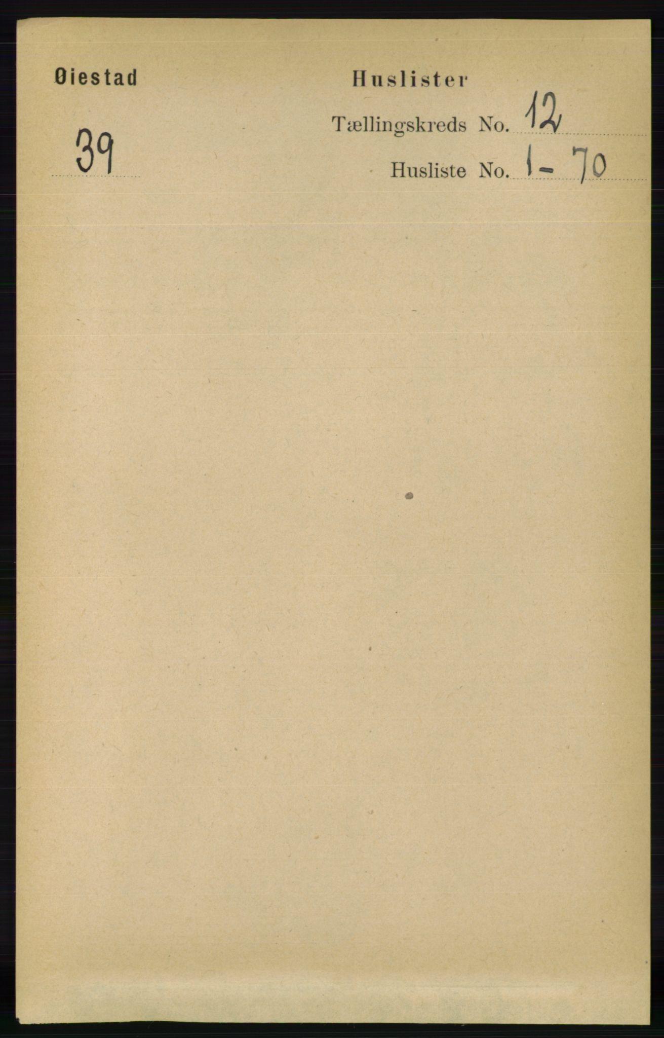 RA, Folketelling 1891 for 0920 Øyestad herred, 1891, s. 5362