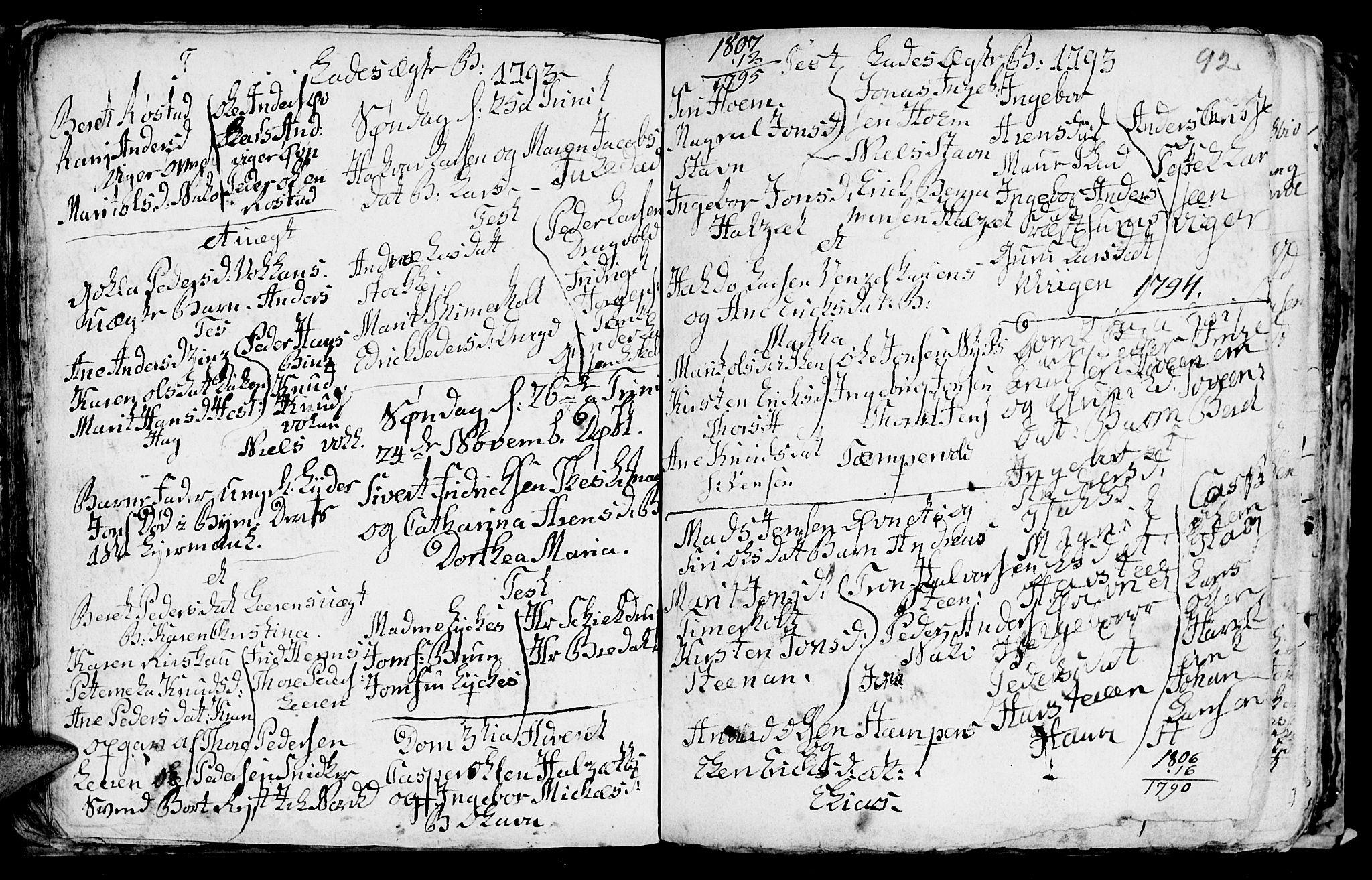 SAT, Ministerialprotokoller, klokkerbøker og fødselsregistre - Sør-Trøndelag, 606/L0305: Klokkerbok nr. 606C01, 1757-1819, s. 92