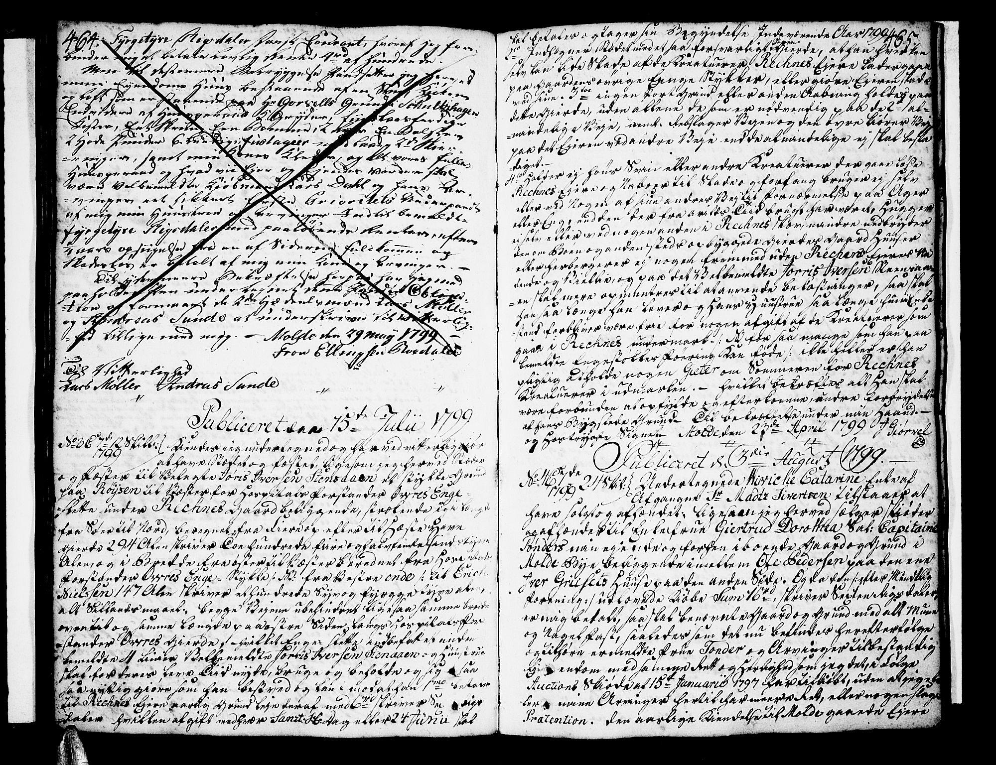 SAT, Molde byfogd, 2/2C/L0001: Pantebok nr. 1, 1748-1823, s. 464-465