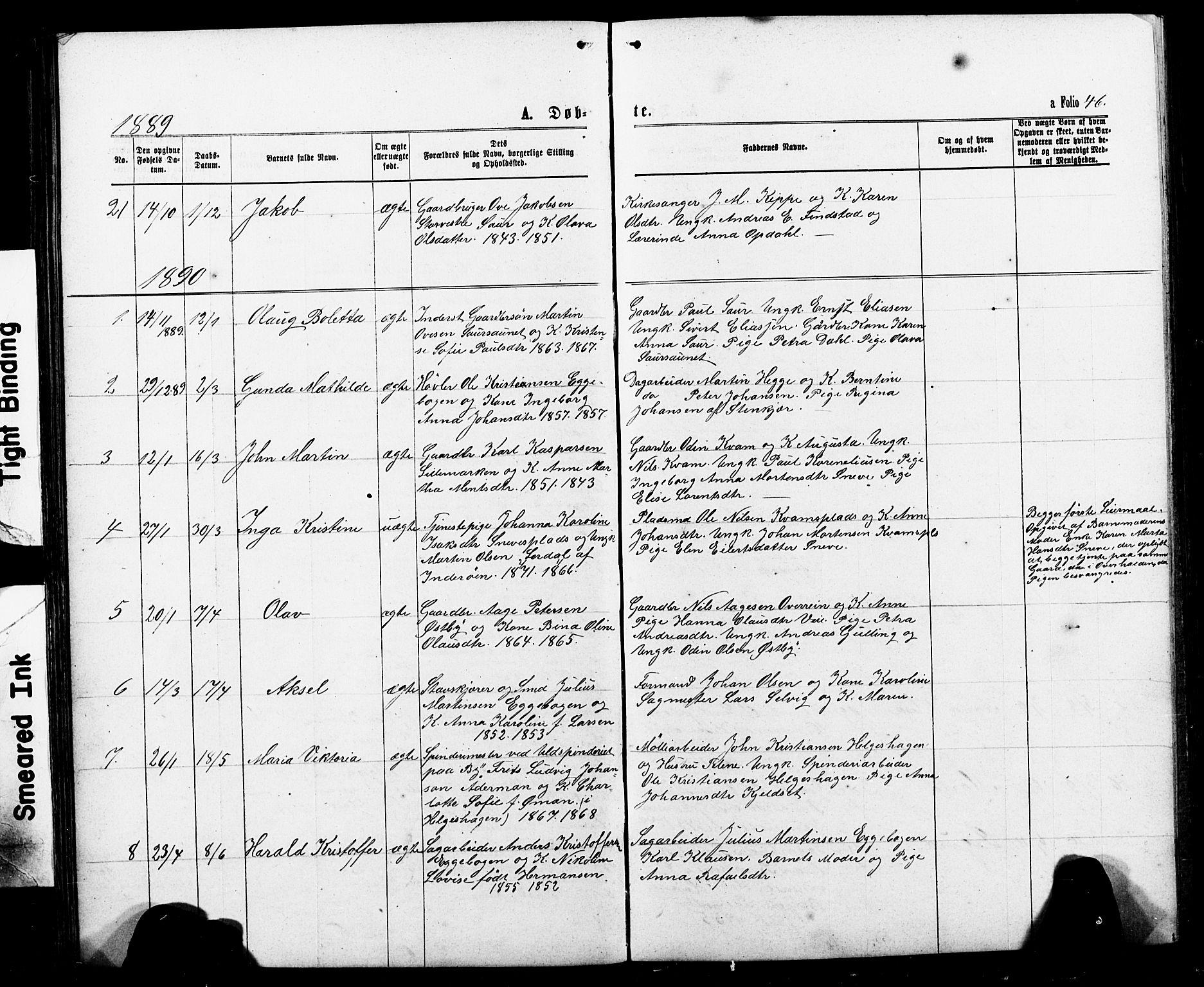 SAT, Ministerialprotokoller, klokkerbøker og fødselsregistre - Nord-Trøndelag, 740/L0380: Klokkerbok nr. 740C01, 1868-1902, s. 46