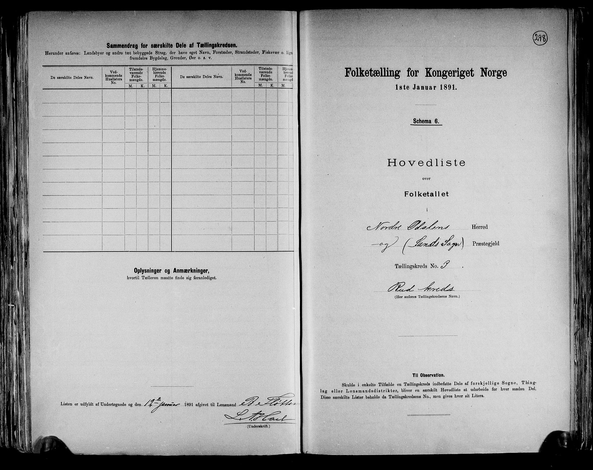 RA, Folketelling 1891 for 0418 Nord-Odal herred, 1891, s. 10