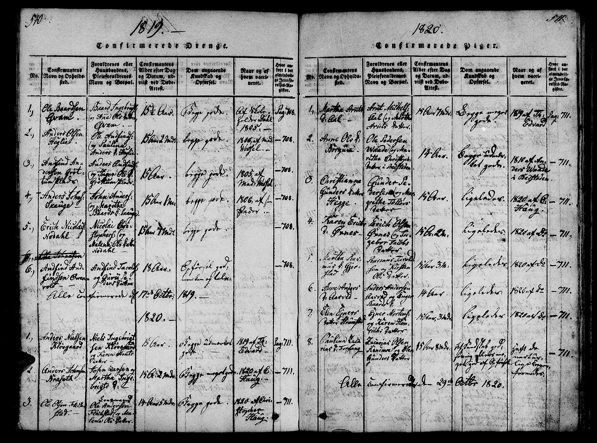 SAT, Ministerialprotokoller, klokkerbøker og fødselsregistre - Nord-Trøndelag, 746/L0441: Ministerialbok nr. 746A03 /2, 1816-1827, s. 510-511