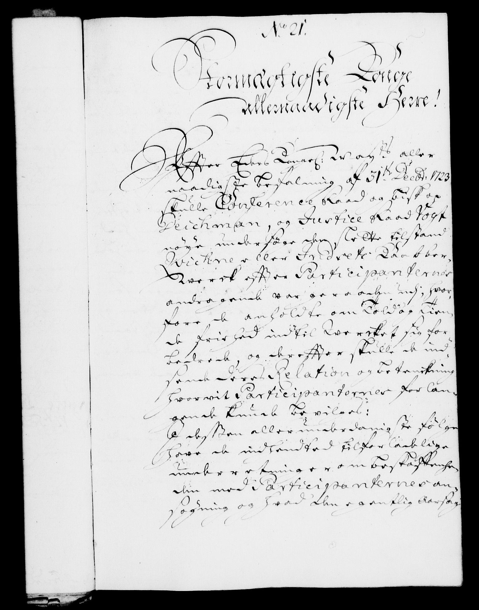 RA, Rentekammeret, Kammerkanselliet, G/Gf/Gfa/L0008: Norsk relasjons- og resolusjonsprotokoll (merket RK 52.8), 1725, s. 107
