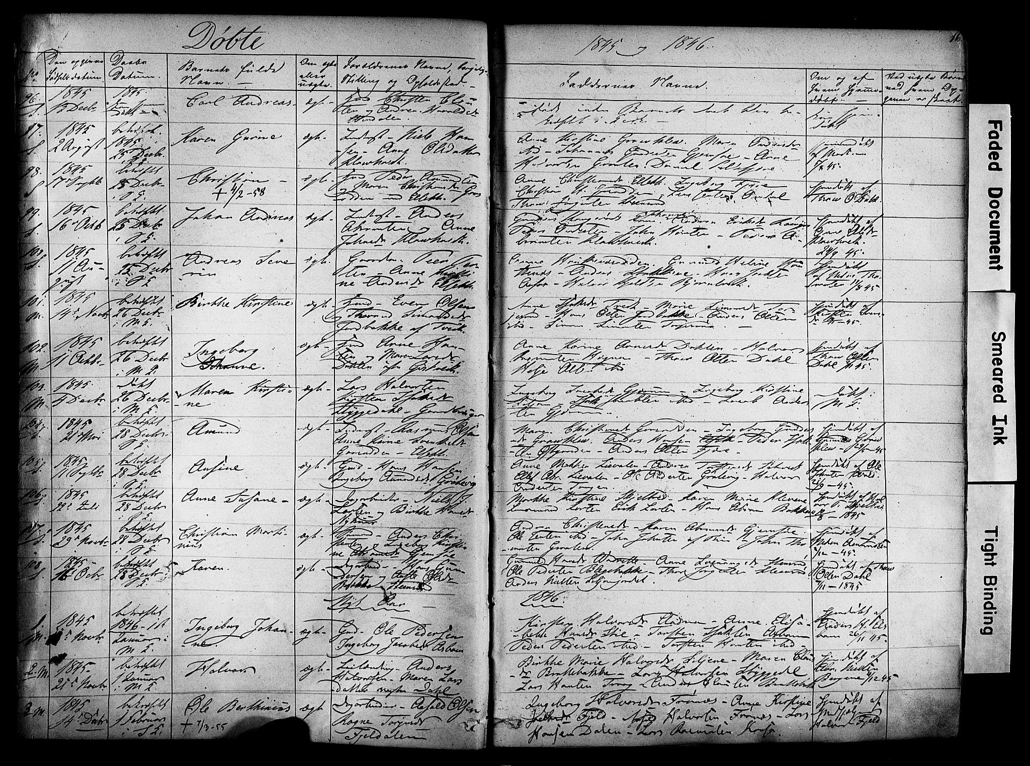 SAKO, Solum kirkebøker, F/Fa/L0006: Ministerialbok nr. I 6, 1844-1855, s. 16