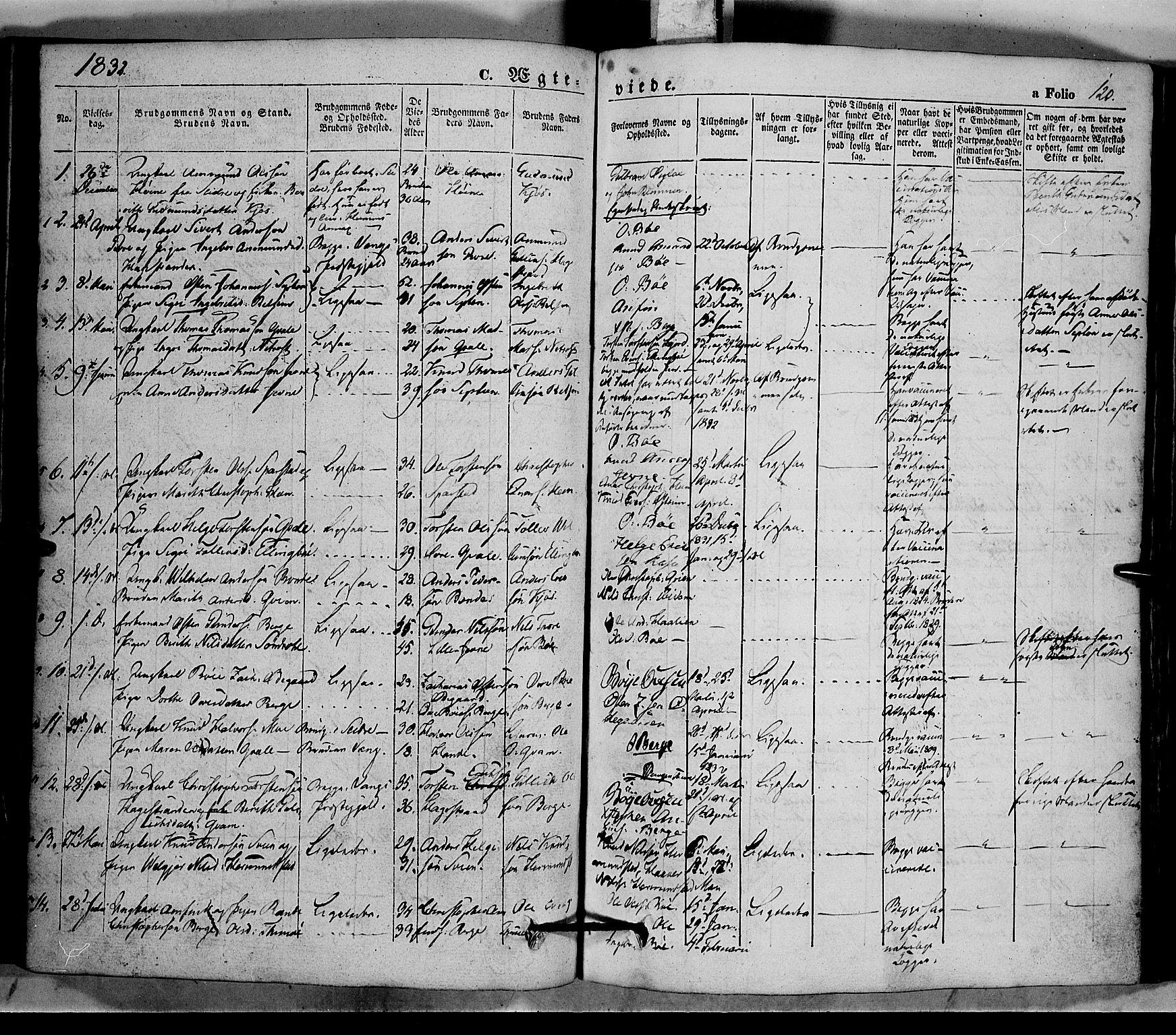 SAH, Vang prestekontor, Valdres, Ministerialbok nr. 5, 1831-1845, s. 120