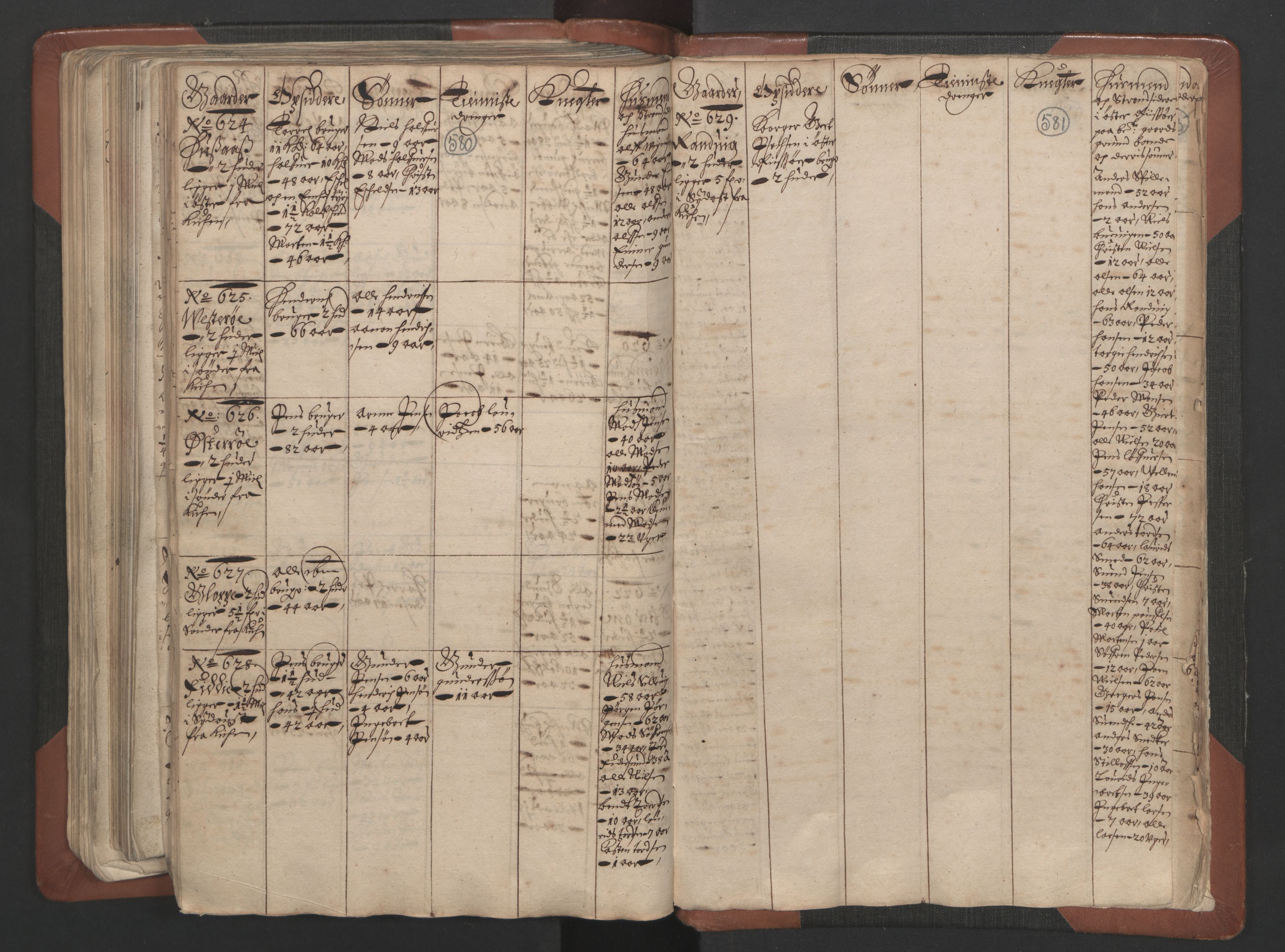 RA, Fogdenes og sorenskrivernes manntall 1664-1666, nr. 7: Nedenes fogderi, 1664-1666, s. 580-581