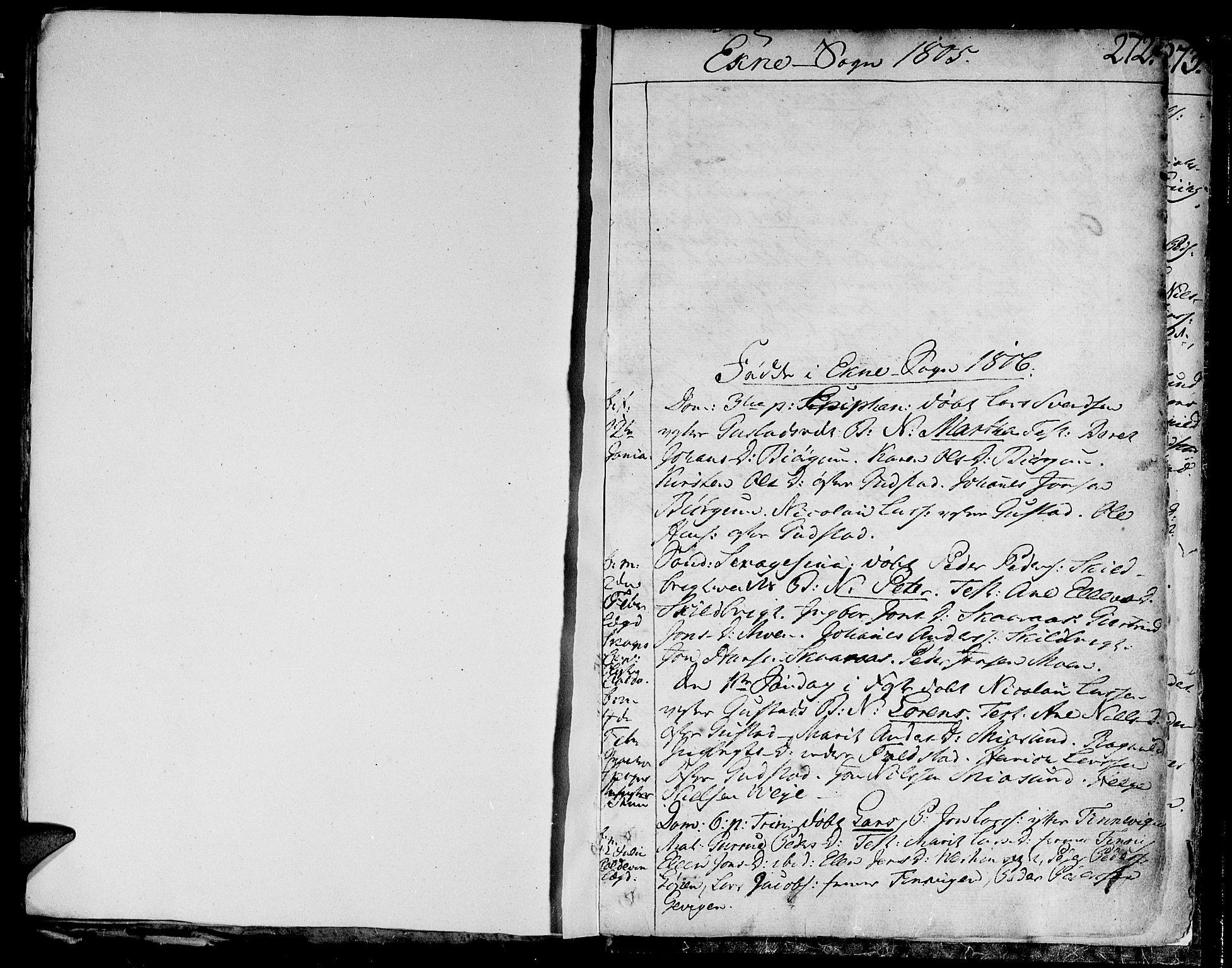 SAT, Ministerialprotokoller, klokkerbøker og fødselsregistre - Nord-Trøndelag, 717/L0143: Ministerialbok nr. 717A02 /2, 1806-1809, s. 272
