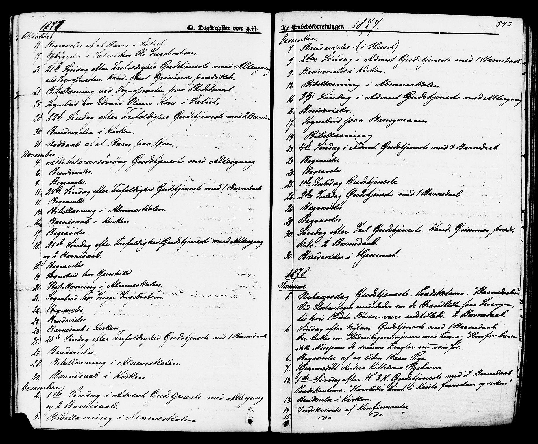 SAKO, Brevik kirkebøker, F/Fa/L0006: Ministerialbok nr. 6, 1866-1881, s. 343