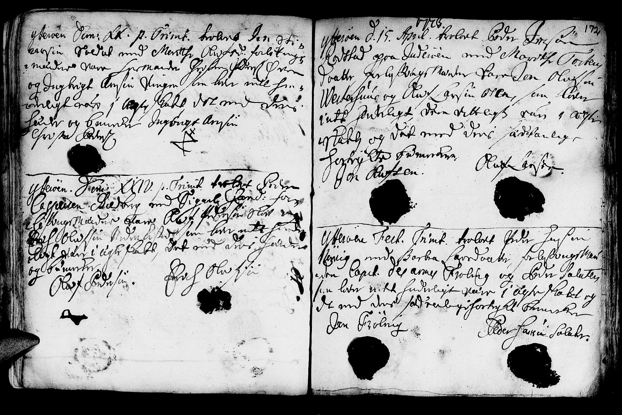 SAT, Ministerialprotokoller, klokkerbøker og fødselsregistre - Nord-Trøndelag, 722/L0215: Ministerialbok nr. 722A02, 1718-1755, s. 172