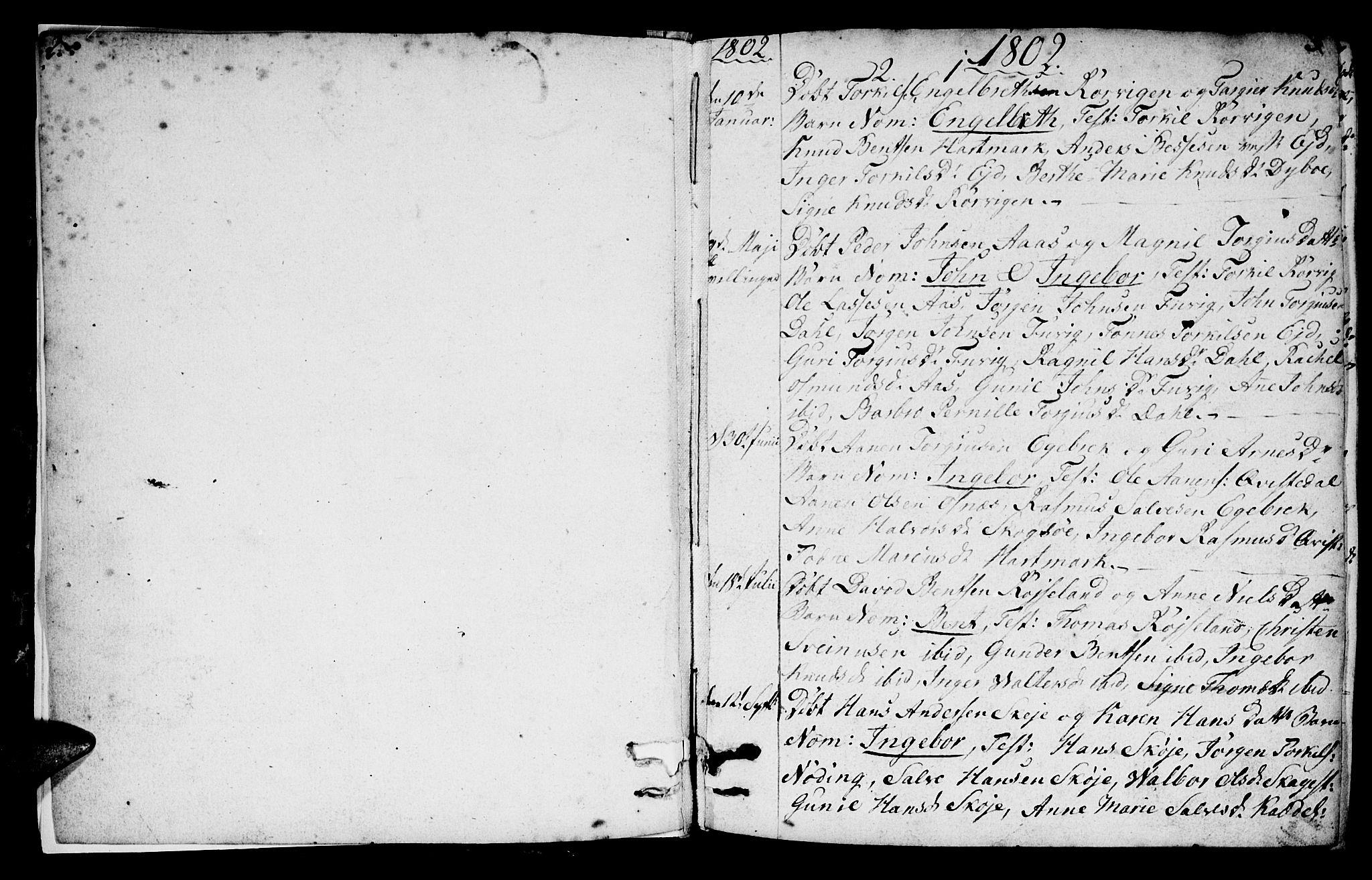 SAK, Mandal sokneprestkontor, F/Fb/Fbb/L0001: Klokkerbok nr. B 1, 1802-1846, s. 2-3