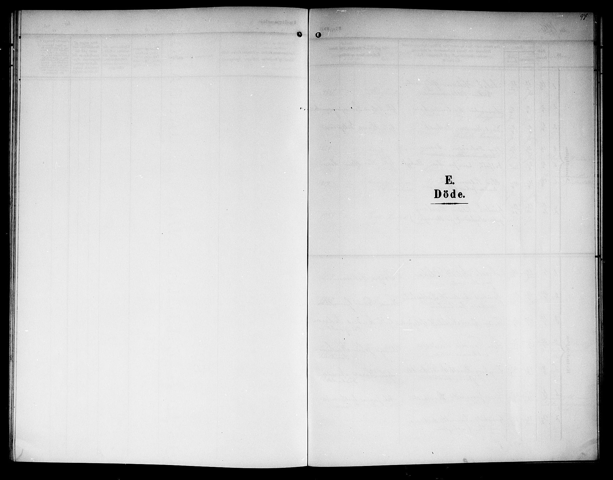 SAKO, Lunde kirkebøker, G/Ga/L0004: Klokkerbok nr. I 4, 1906-1914, s. 97
