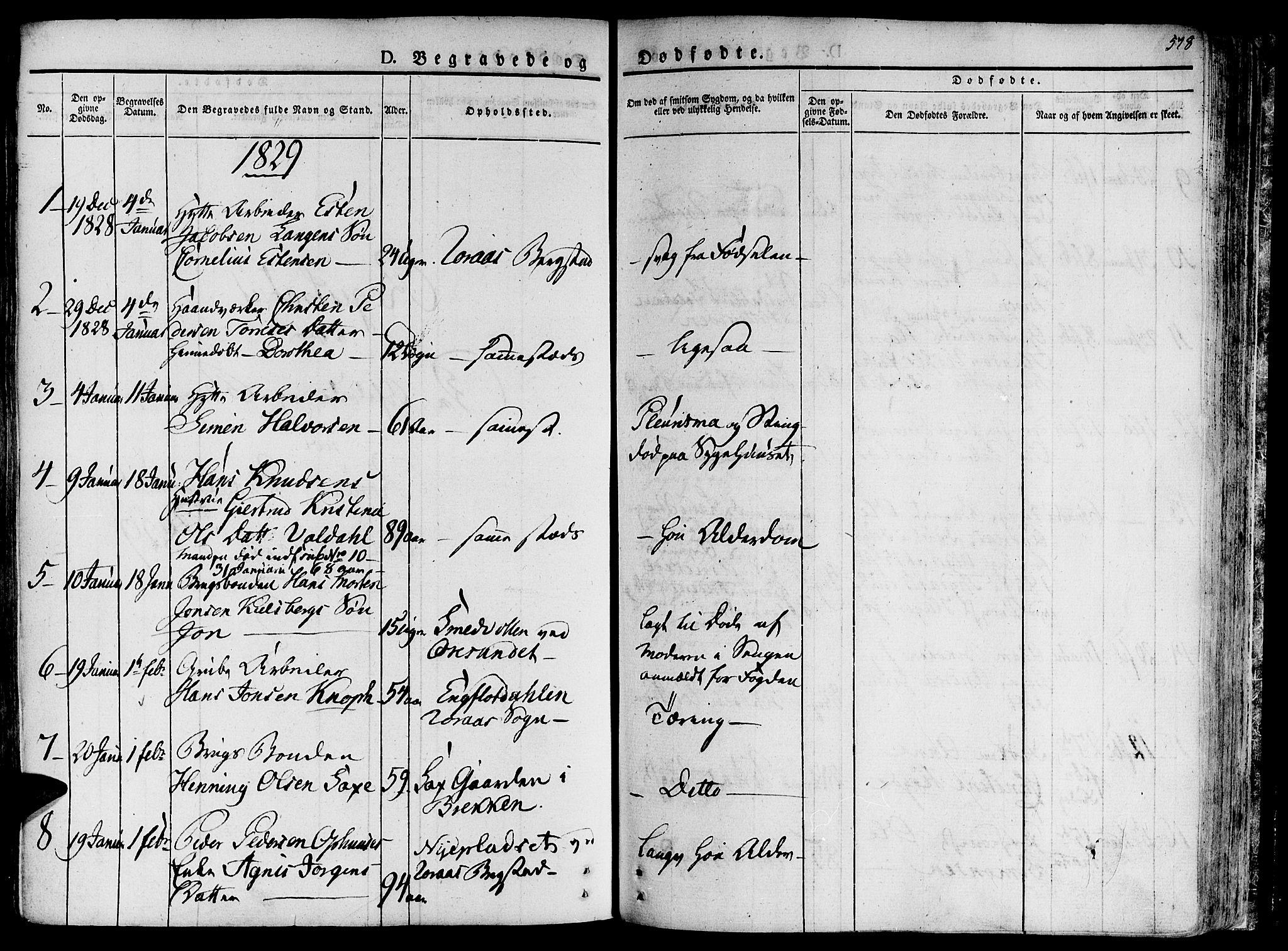 SAT, Ministerialprotokoller, klokkerbøker og fødselsregistre - Sør-Trøndelag, 681/L0930: Ministerialbok nr. 681A08, 1829-1844, s. 578