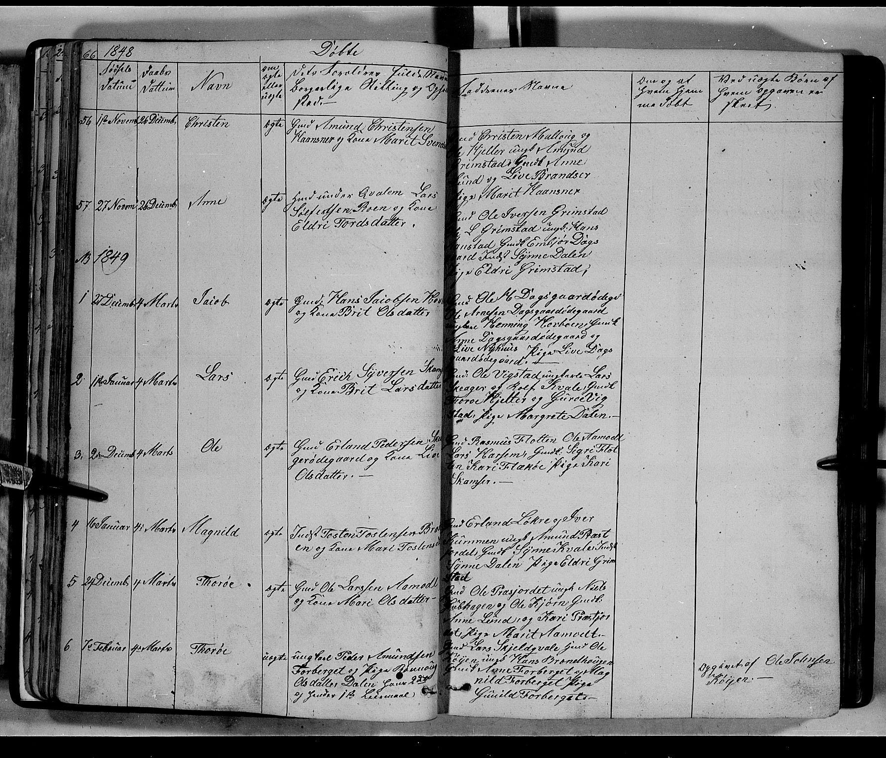 SAH, Lom prestekontor, L/L0004: Klokkerbok nr. 4, 1845-1864, s. 66-67