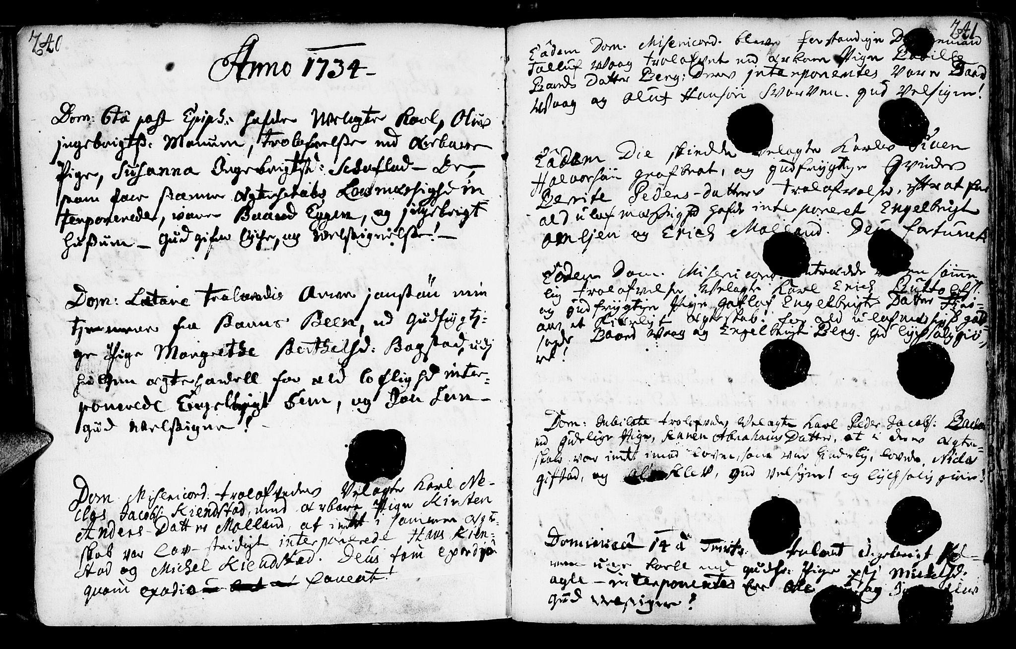 SAT, Ministerialprotokoller, klokkerbøker og fødselsregistre - Nord-Trøndelag, 749/L0467: Ministerialbok nr. 749A01, 1733-1787, s. 240-241