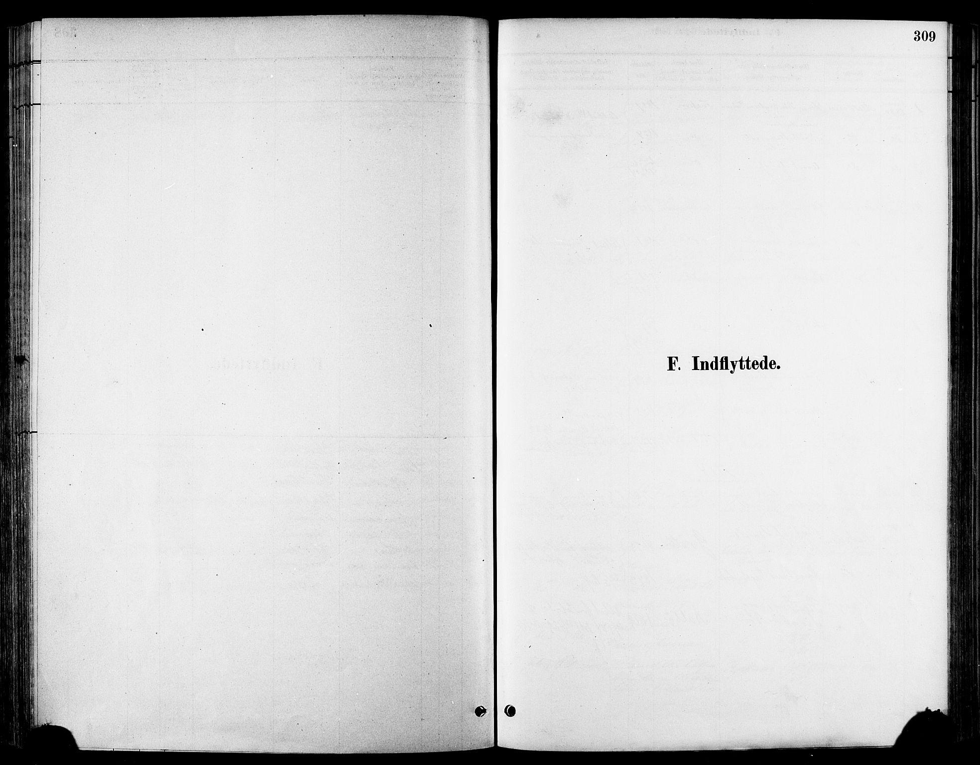 SAT, Ministerialprotokoller, klokkerbøker og fødselsregistre - Sør-Trøndelag, 678/L0901: Ministerialbok nr. 678A10, 1881-1894, s. 309