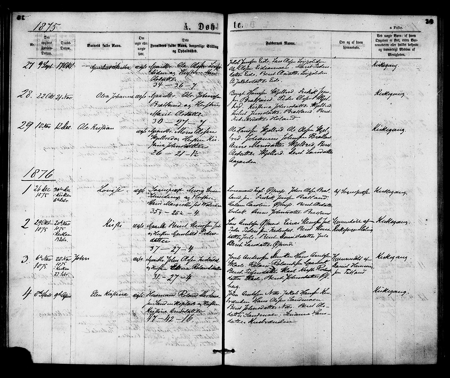 SAT, Ministerialprotokoller, klokkerbøker og fødselsregistre - Nord-Trøndelag, 755/L0493: Ministerialbok nr. 755A02, 1865-1881, s. 36
