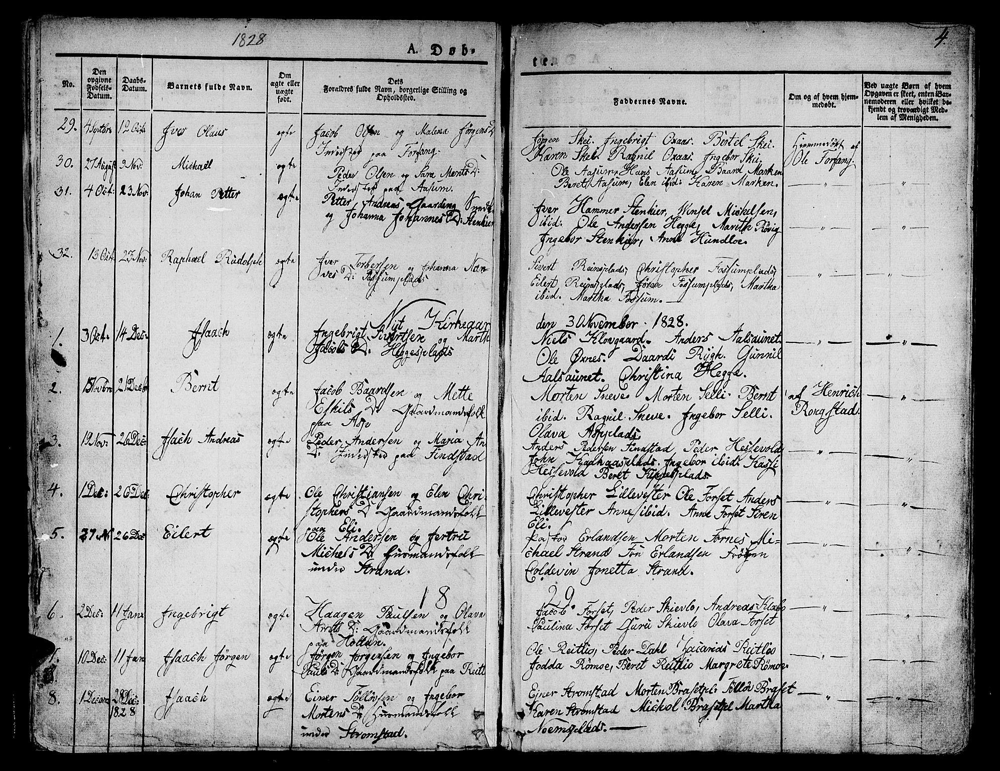 SAT, Ministerialprotokoller, klokkerbøker og fødselsregistre - Nord-Trøndelag, 746/L0445: Ministerialbok nr. 746A04, 1826-1846, s. 4