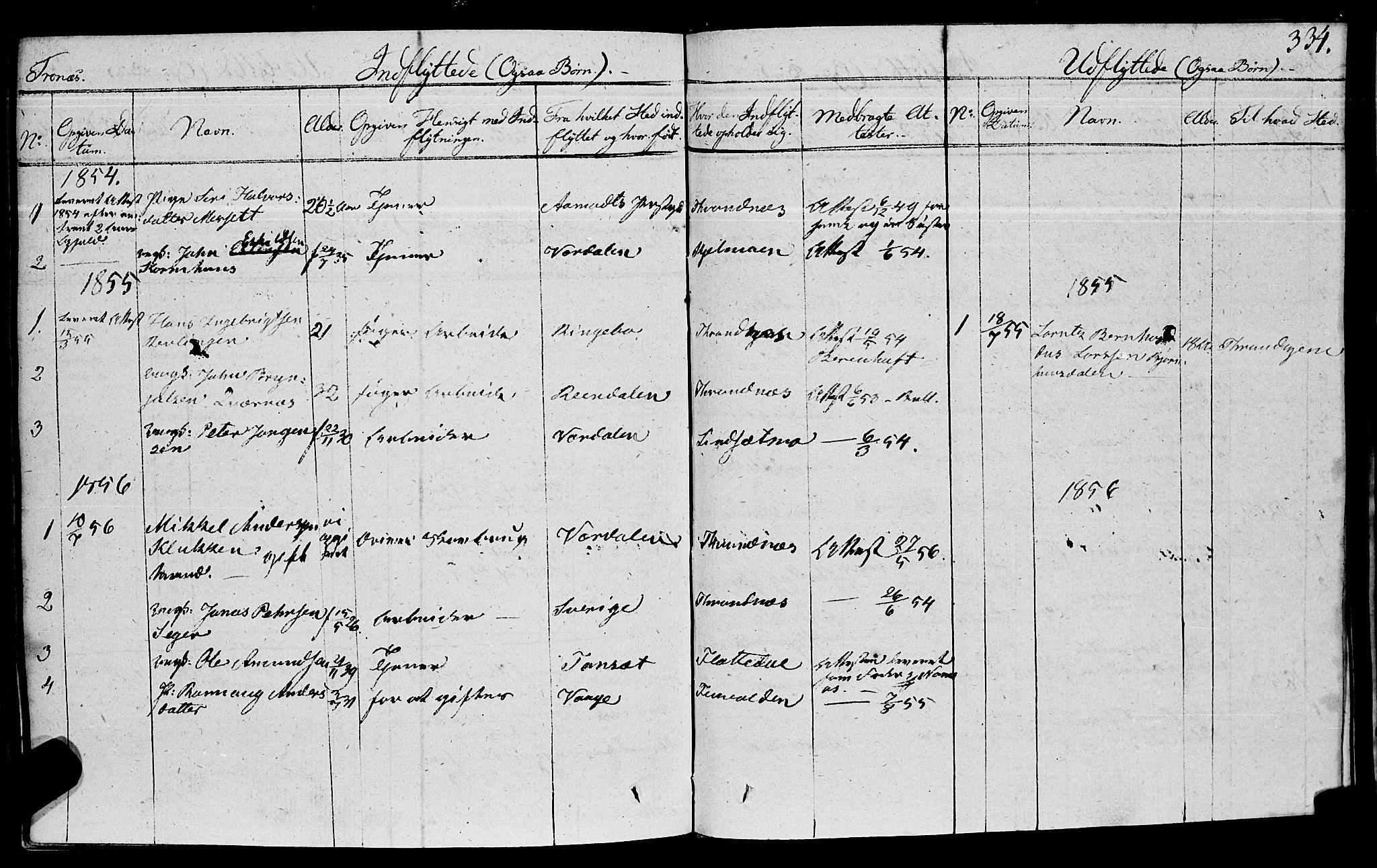 SAT, Ministerialprotokoller, klokkerbøker og fødselsregistre - Nord-Trøndelag, 762/L0538: Ministerialbok nr. 762A02 /2, 1833-1879, s. 334