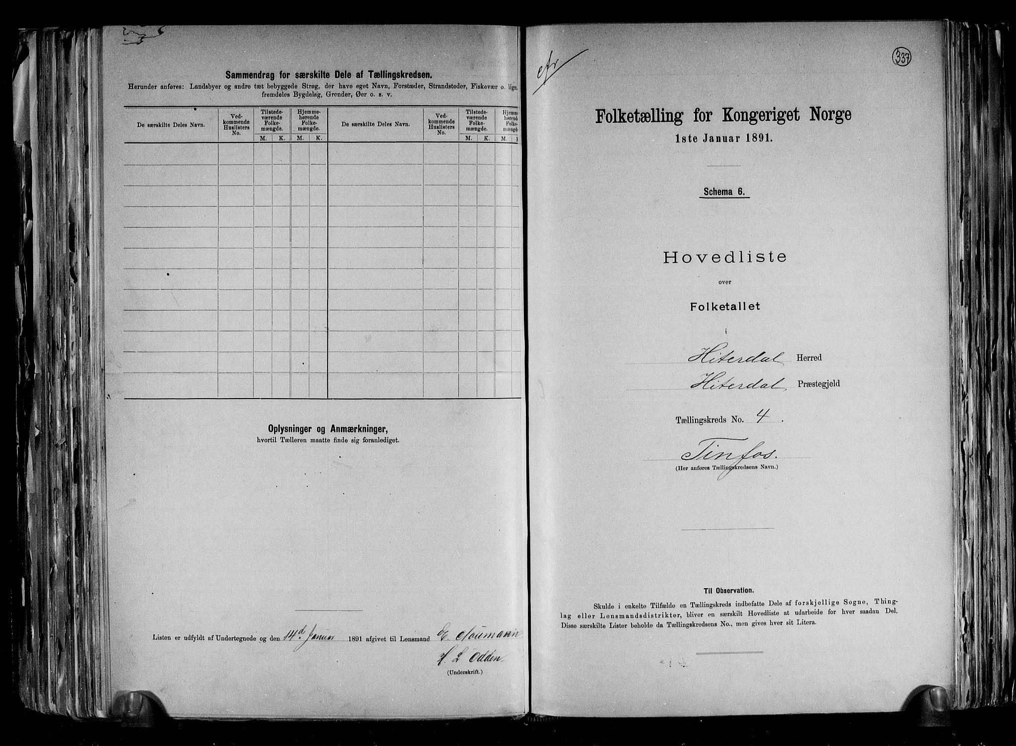 RA, Folketelling 1891 for 0823 Heddal herred, 1891, s. 14