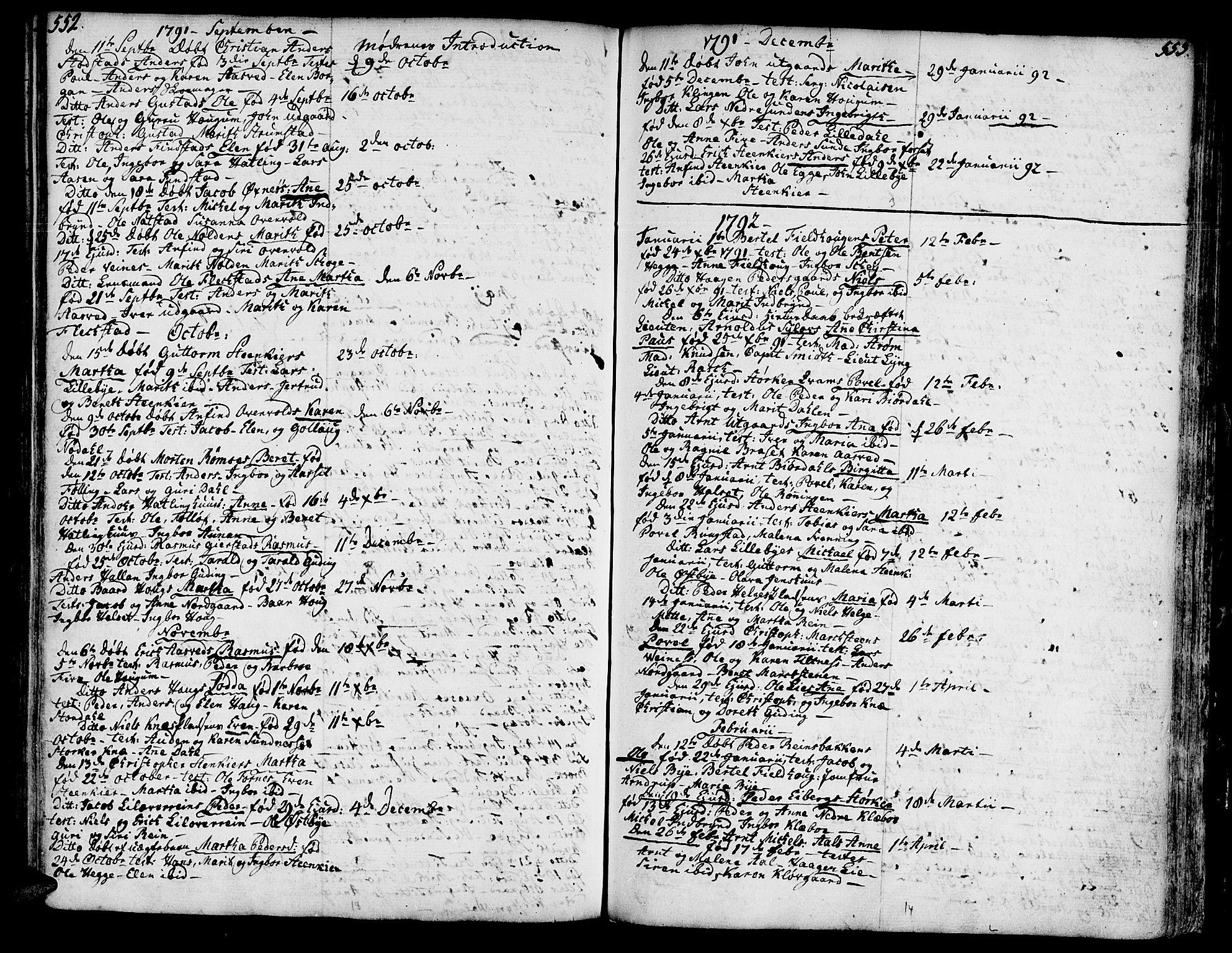SAT, Ministerialprotokoller, klokkerbøker og fødselsregistre - Nord-Trøndelag, 746/L0440: Ministerialbok nr. 746A02, 1760-1815, s. 552-553
