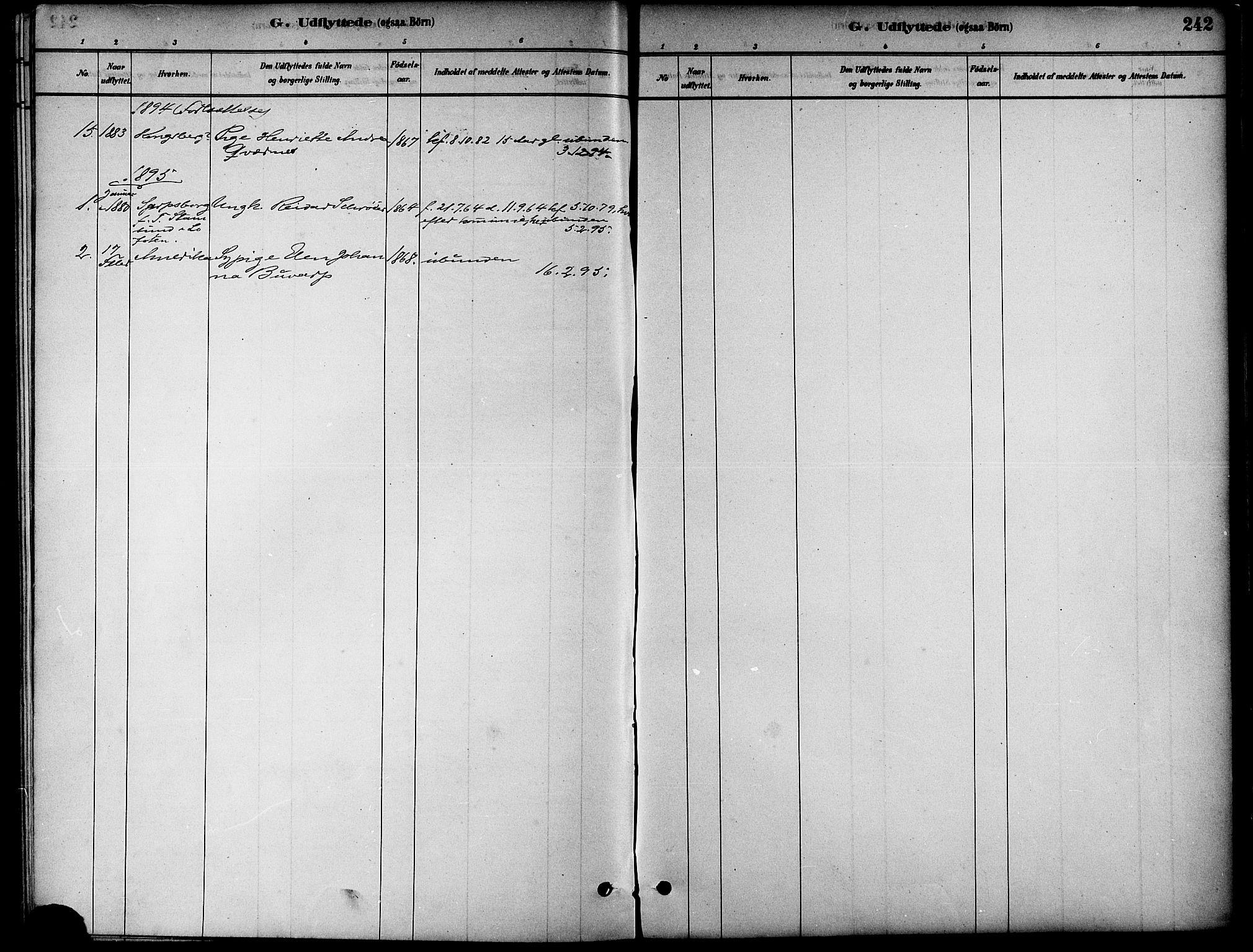 SAT, Ministerialprotokoller, klokkerbøker og fødselsregistre - Nord-Trøndelag, 739/L0371: Ministerialbok nr. 739A03, 1881-1895, s. 242