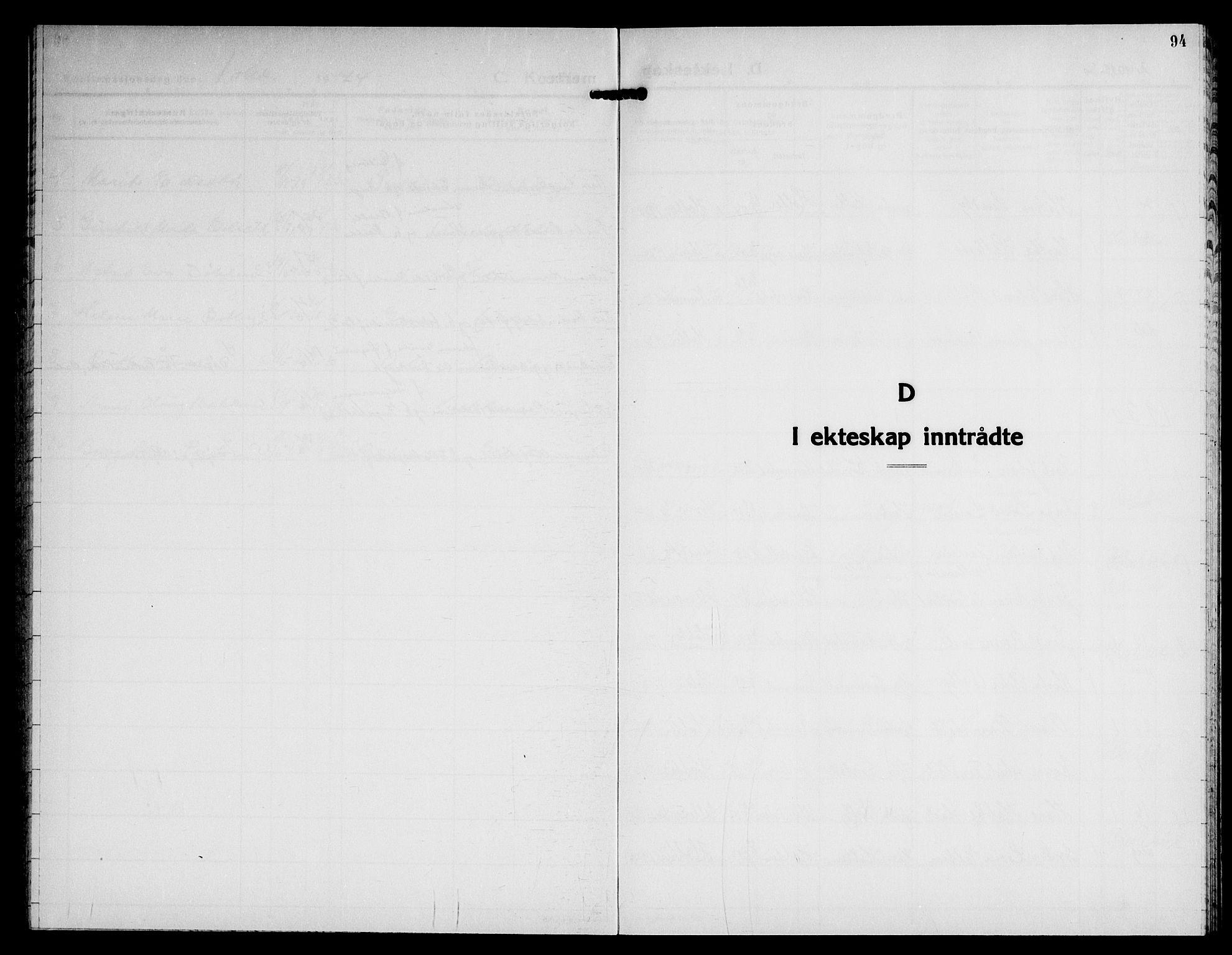 SAO, Nannestad prestekontor Kirkebøker, G/Gb/L0003: Klokkerbok nr. II 3, 1929-1946, s. 94