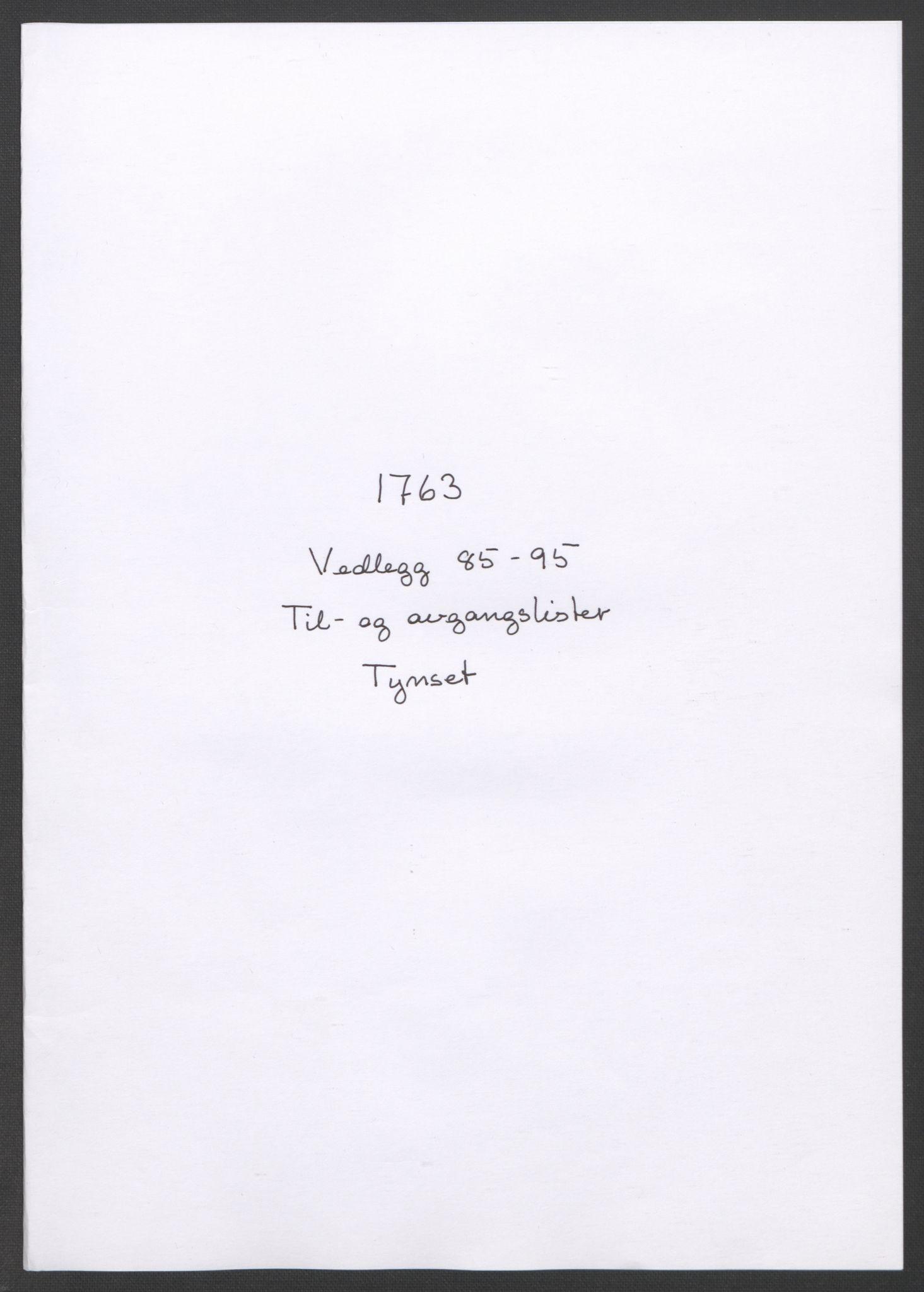 RA, Rentekammeret inntil 1814, Reviderte regnskaper, Fogderegnskap, R14/L0959: Ekstraskatten Solør og Odal, 1763-1770, s. 282