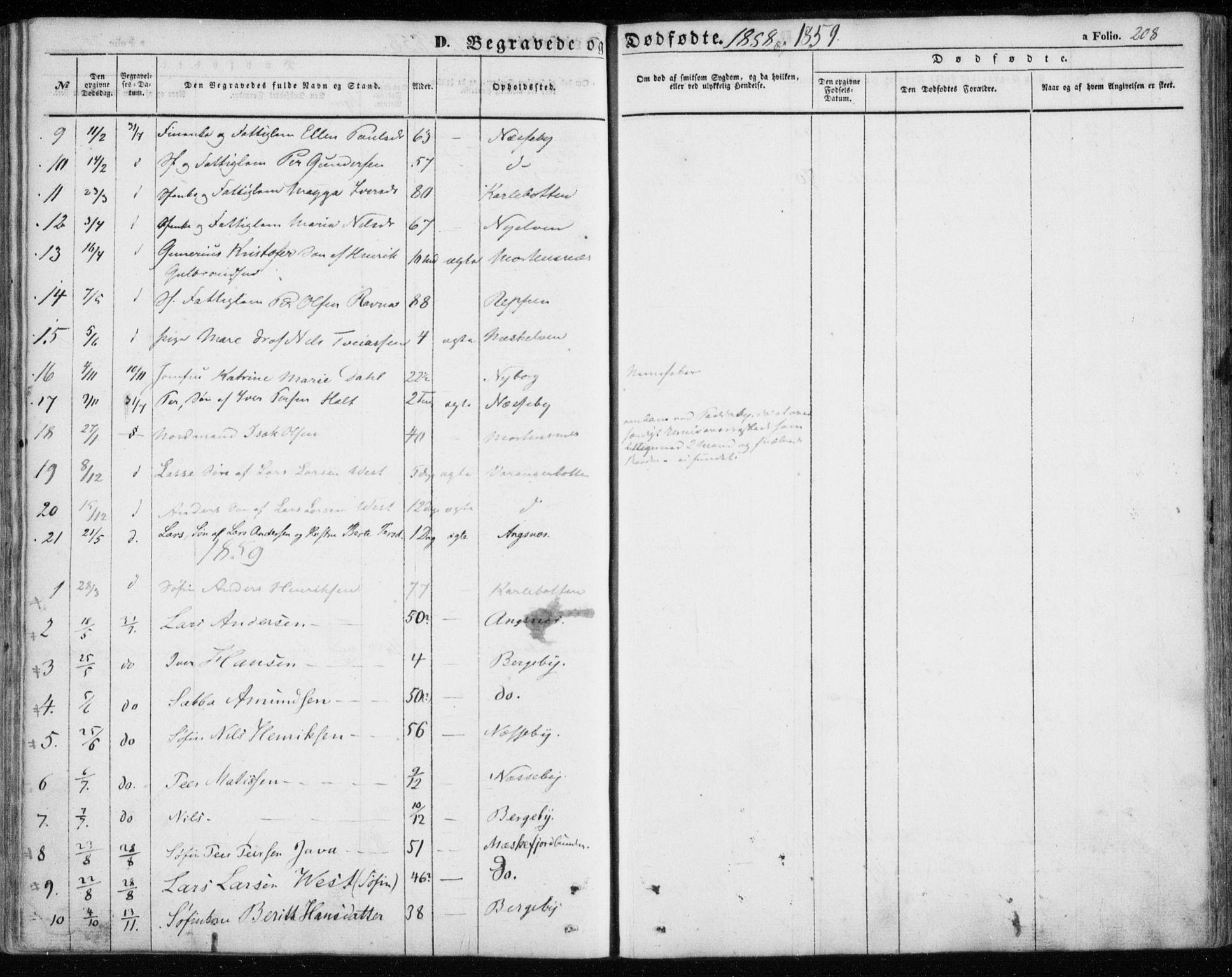 SATØ, Nesseby sokneprestkontor, H/Ha/L0002kirke: Ministerialbok nr. 2, 1856-1864, s. 208