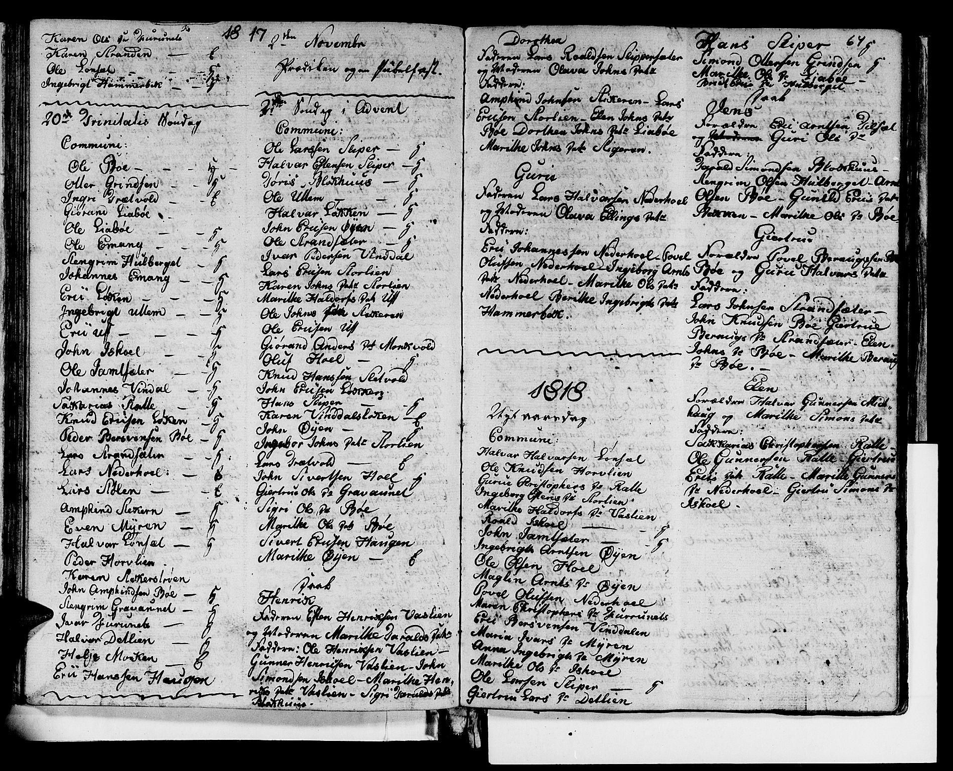 SAT, Ministerialprotokoller, klokkerbøker og fødselsregistre - Sør-Trøndelag, 679/L0921: Klokkerbok nr. 679C01, 1792-1840, s. 64