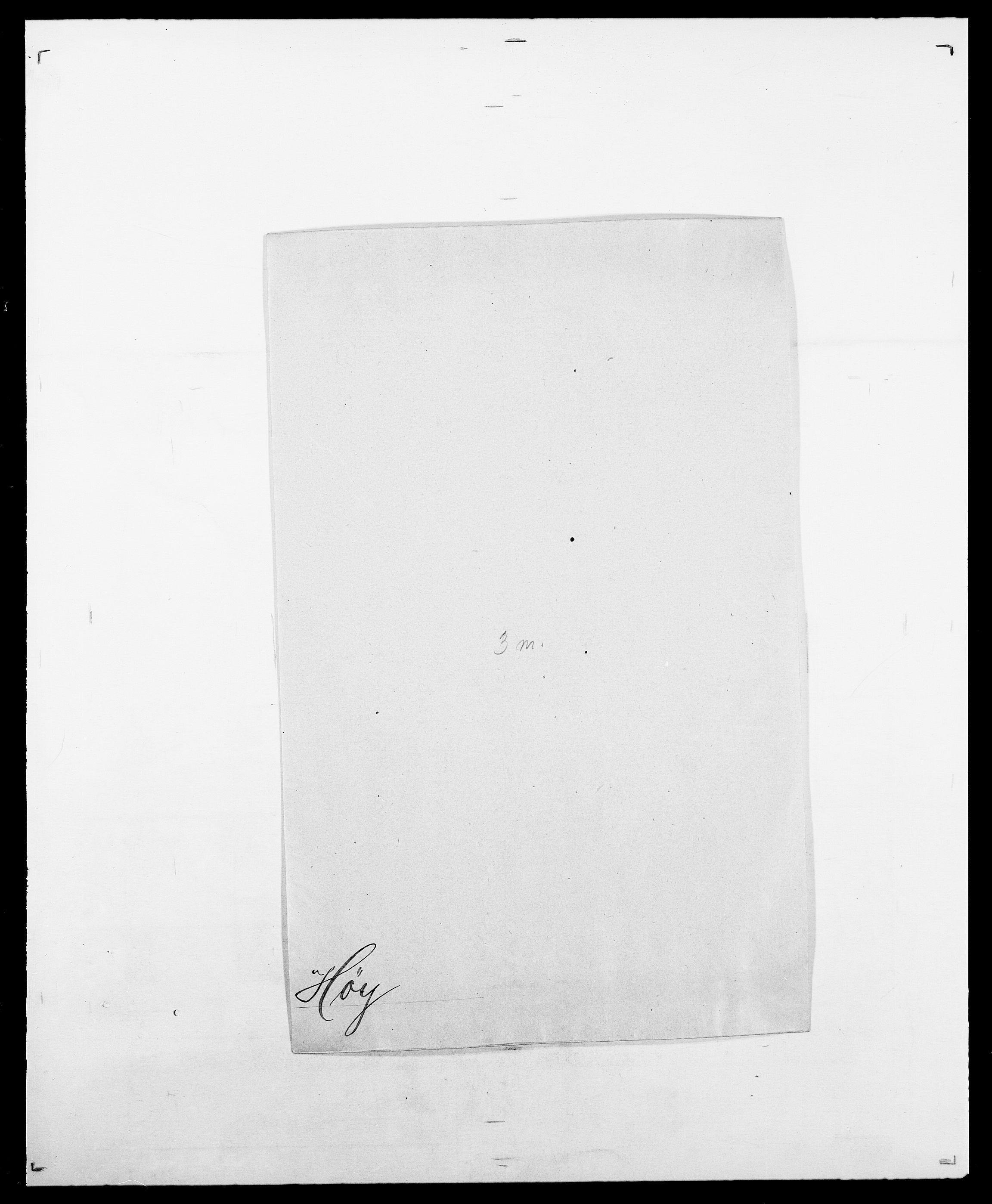 SAO, Delgobe, Charles Antoine - samling, D/Da/L0019: van der Hude - Joys, s. 402