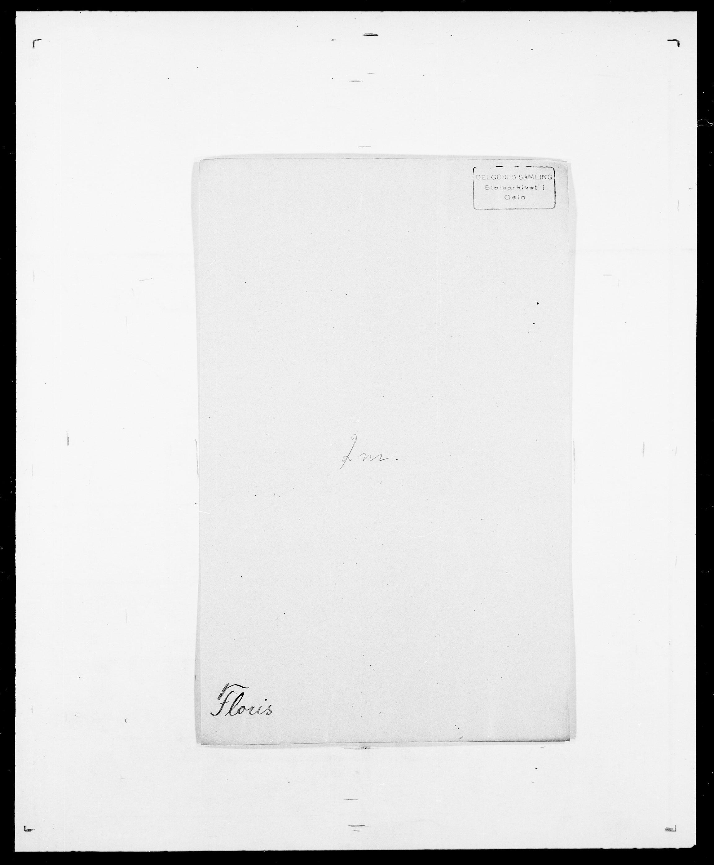 SAO, Delgobe, Charles Antoine - samling, D/Da/L0012: Flor, Floer, Flohr - Fritzner, s. 471