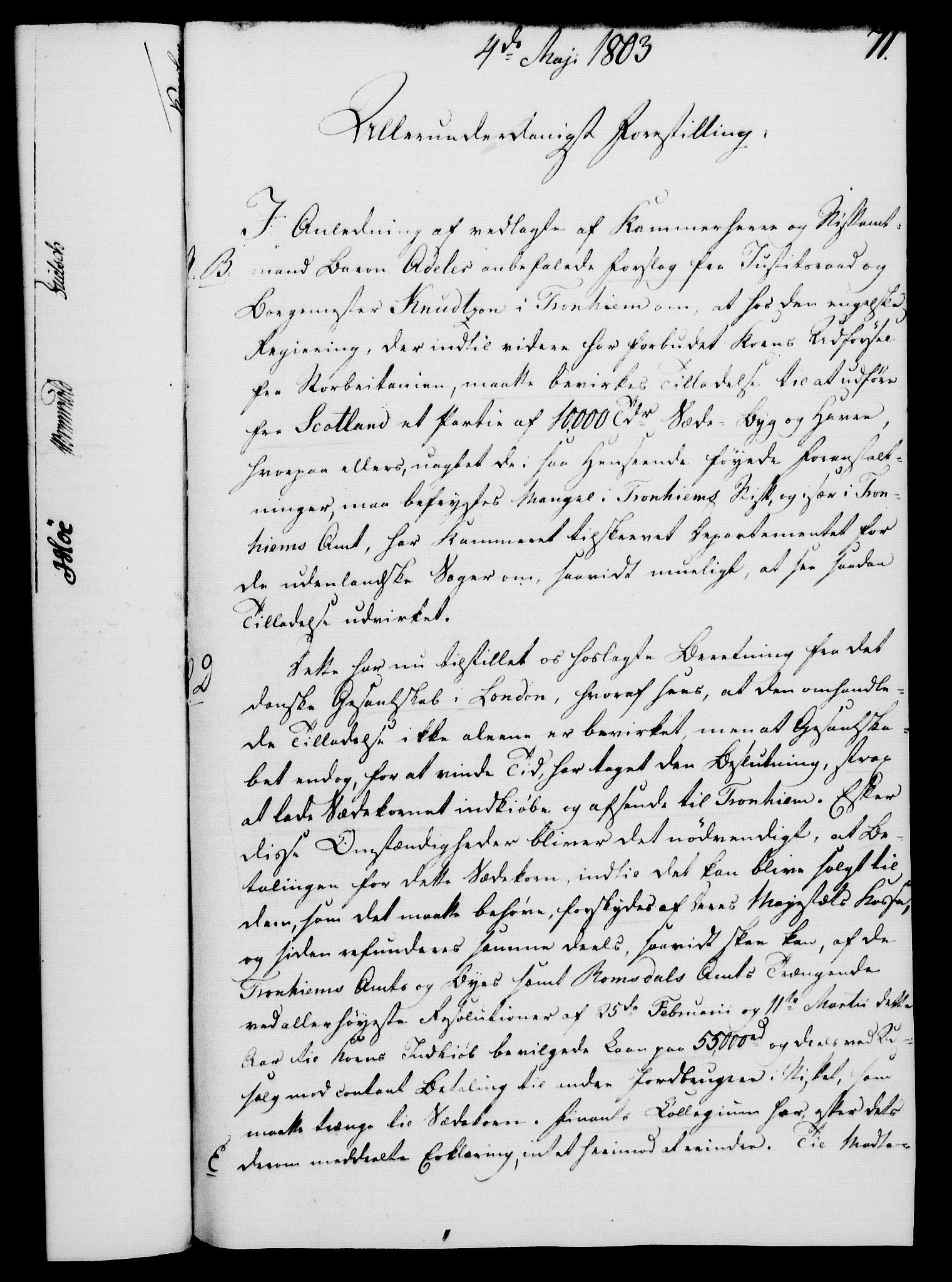 RA, Rentekammeret, Kammerkanselliet, G/Gf/Gfa/L0085: Norsk relasjons- og resolusjonsprotokoll (merket RK 52.85), 1803, s. 439