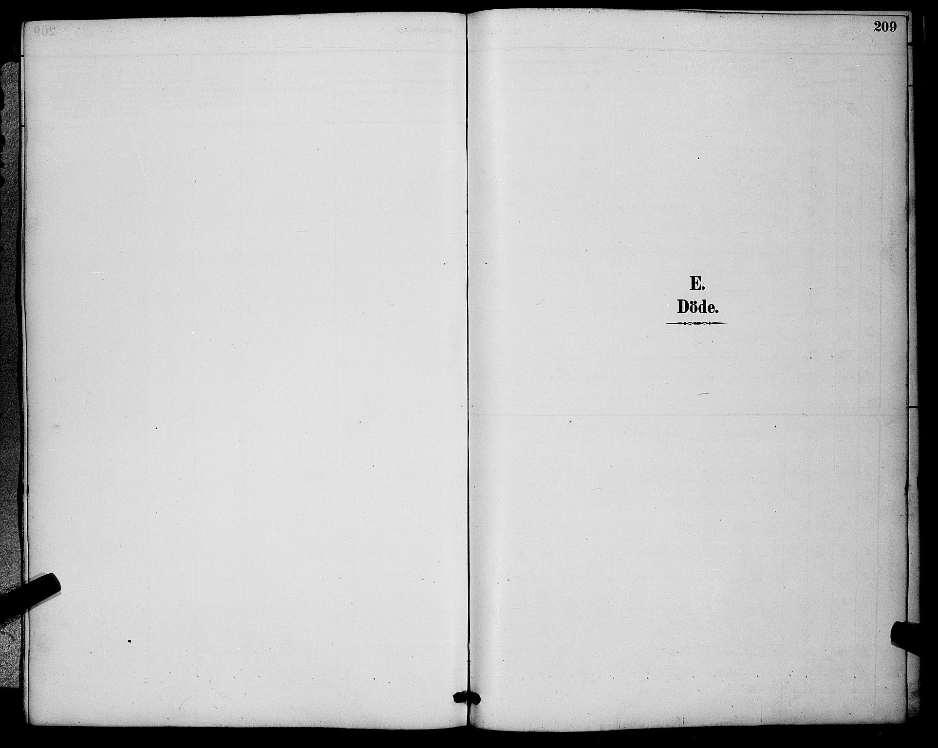 SAKO, Sigdal kirkebøker, G/Ga/L0005: Klokkerbok nr. I 5, 1886-1900, s. 209