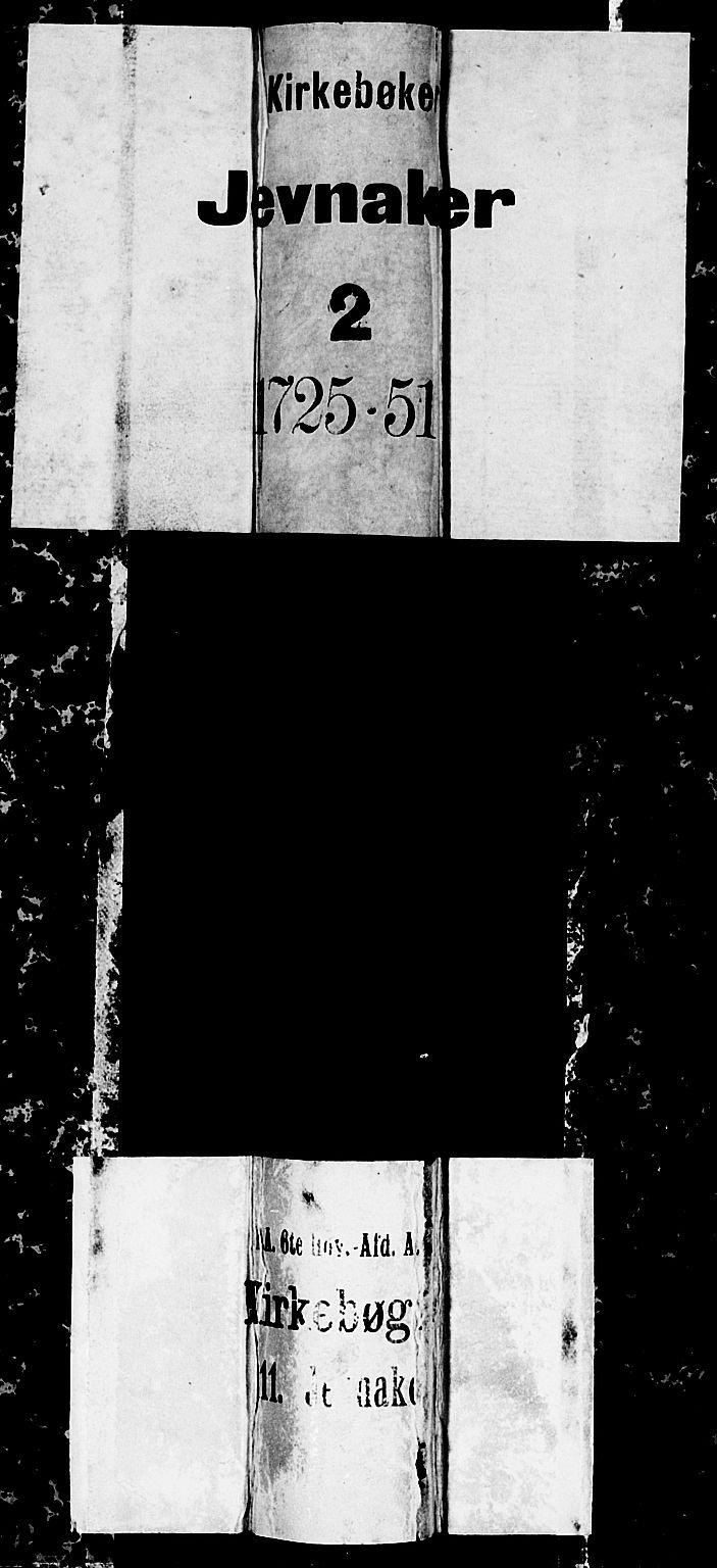 SAH, Jevnaker prestekontor, Ministerialbok nr. 2, 1725-1751