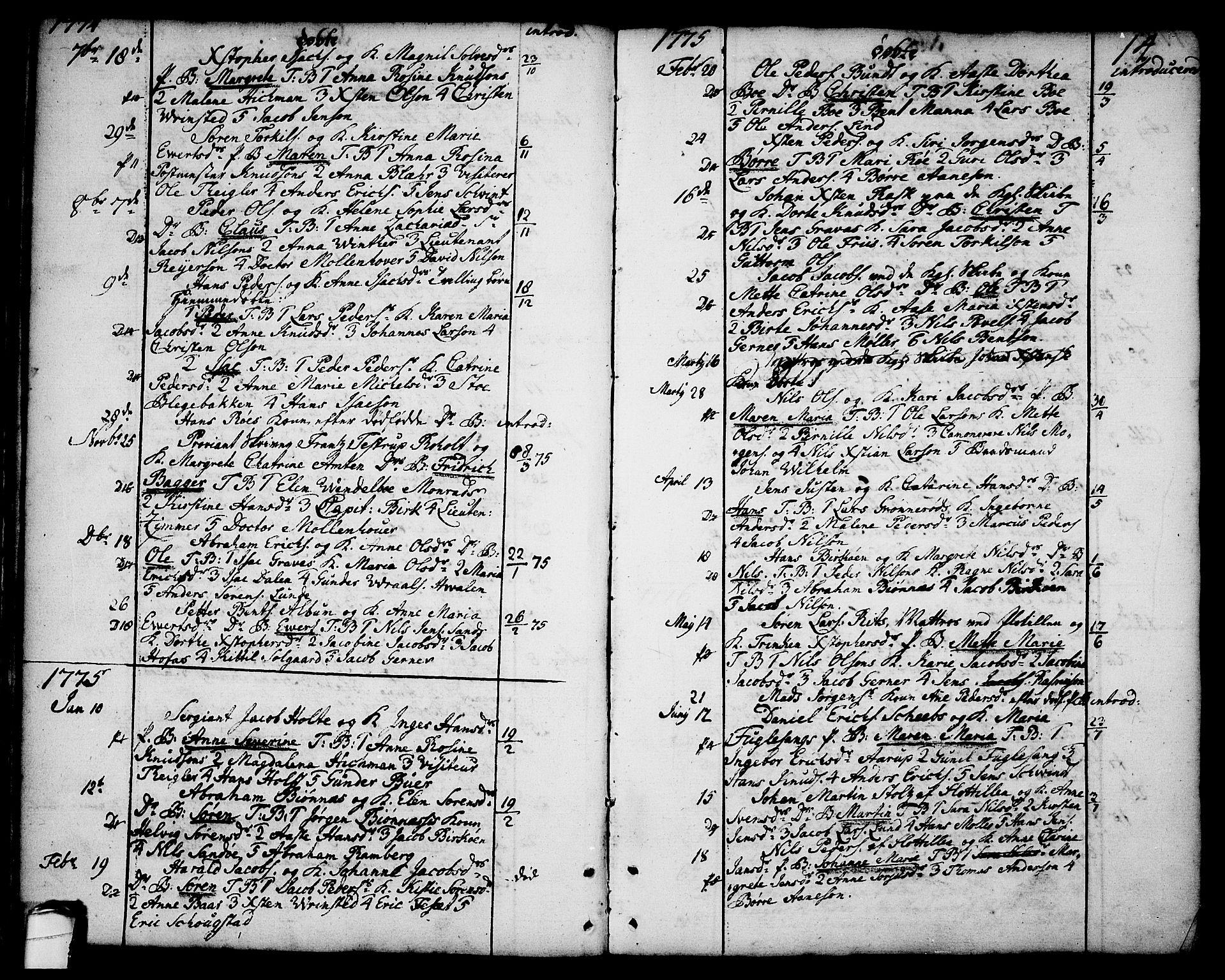 SAKO, Brevik kirkebøker, F/Fa/L0003: Ministerialbok nr. 3, 1764-1814, s. 14