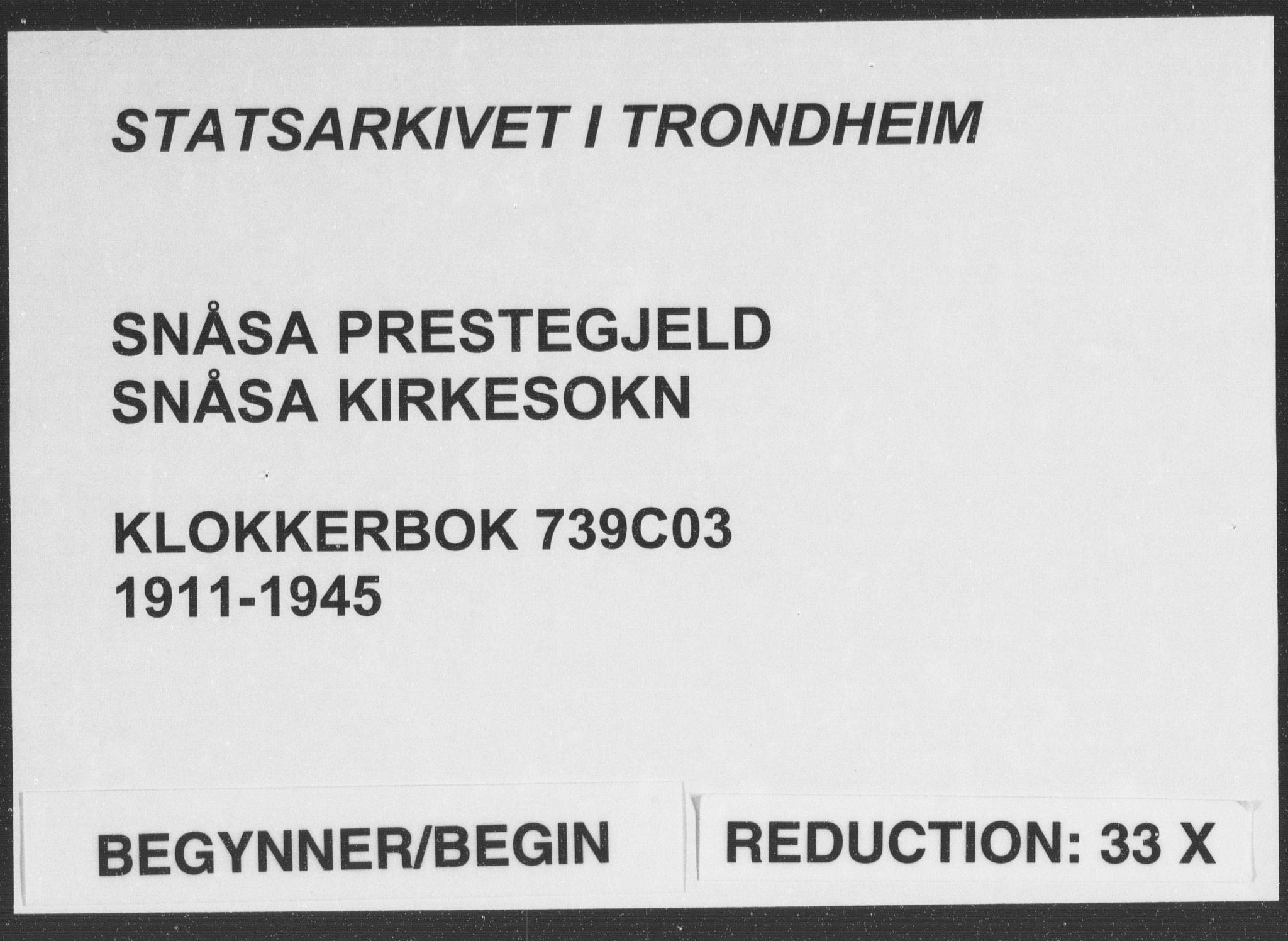SAT, Ministerialprotokoller, klokkerbøker og fødselsregistre - Nord-Trøndelag, 749/L0481: Klokkerbok nr. 749C03, 1933-1945