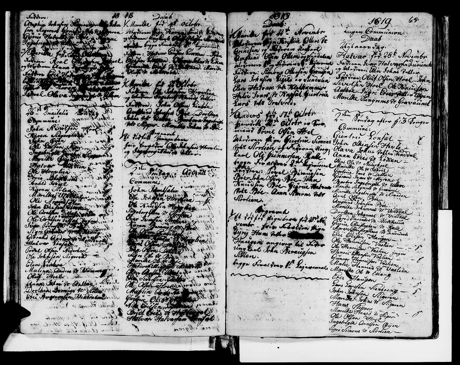 SAT, Ministerialprotokoller, klokkerbøker og fødselsregistre - Sør-Trøndelag, 679/L0921: Klokkerbok nr. 679C01, 1792-1840, s. 69