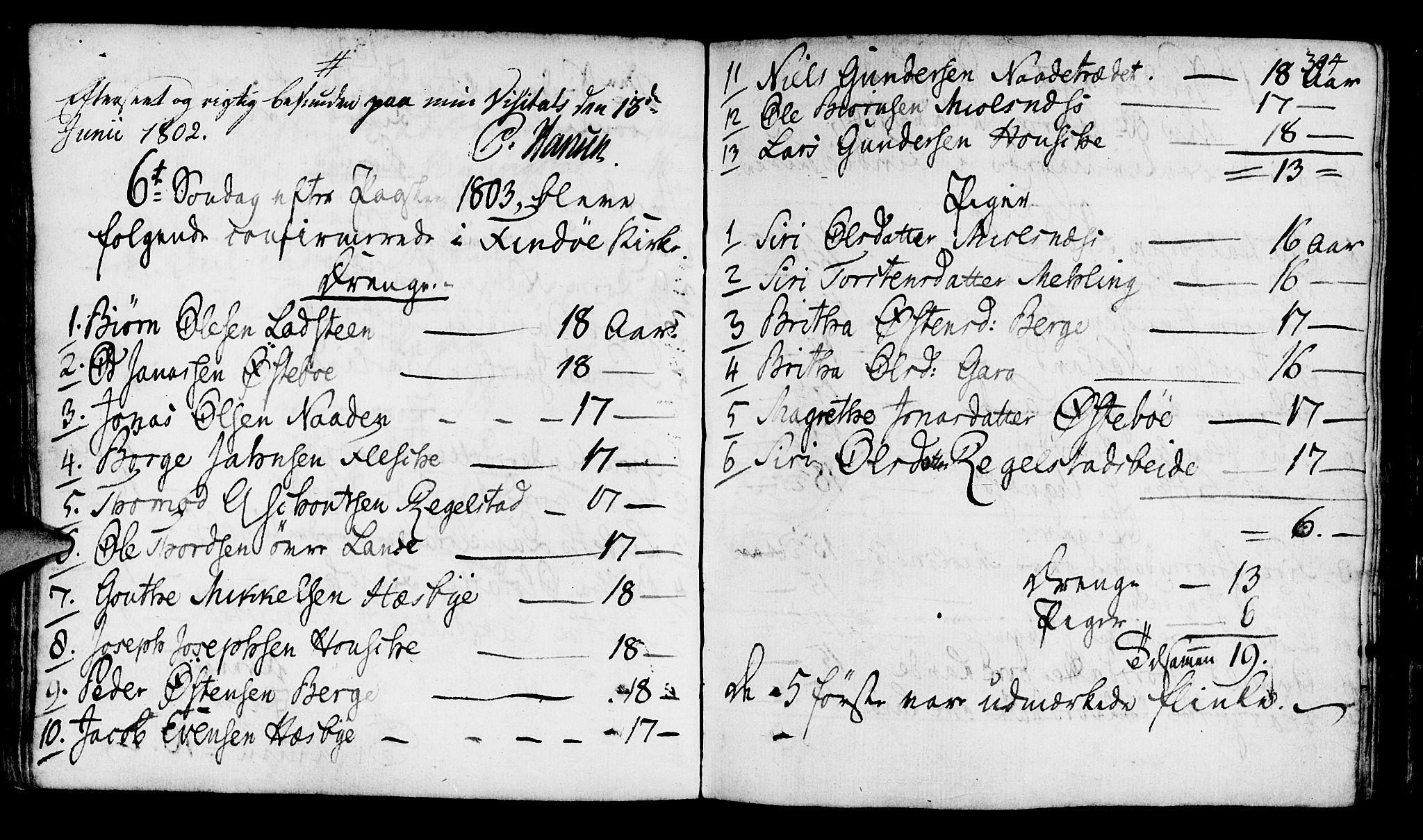 SAST, Finnøy sokneprestkontor, H/Ha/Haa/L0005: Ministerialbok nr. A 5, 1773-1816, s. 304