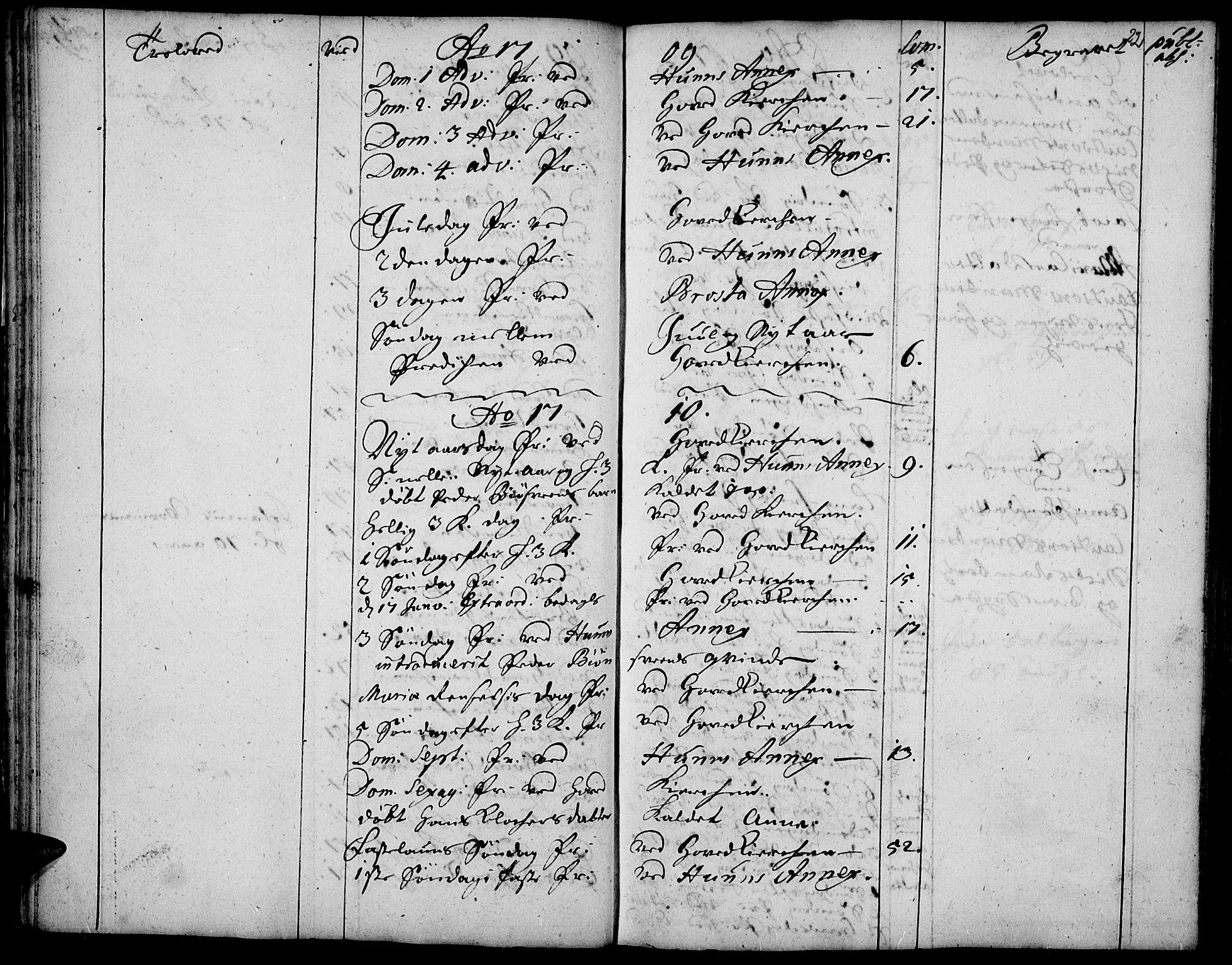 SAH, Vardal prestekontor, H/Ha/Haa/L0001: Ministerialbok nr. 1, 1706-1748, s. 22