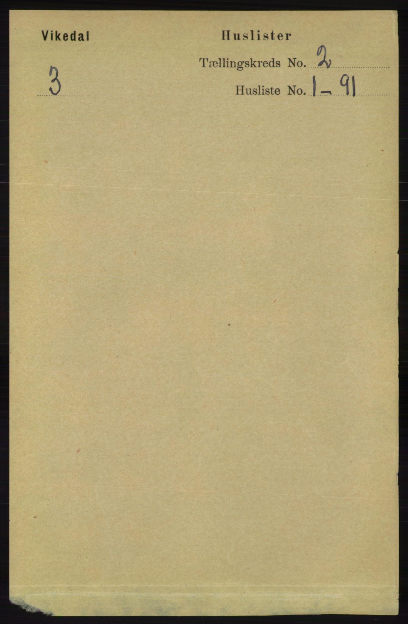 RA, Folketelling 1891 for 1157 Vikedal herred, 1891, s. 194