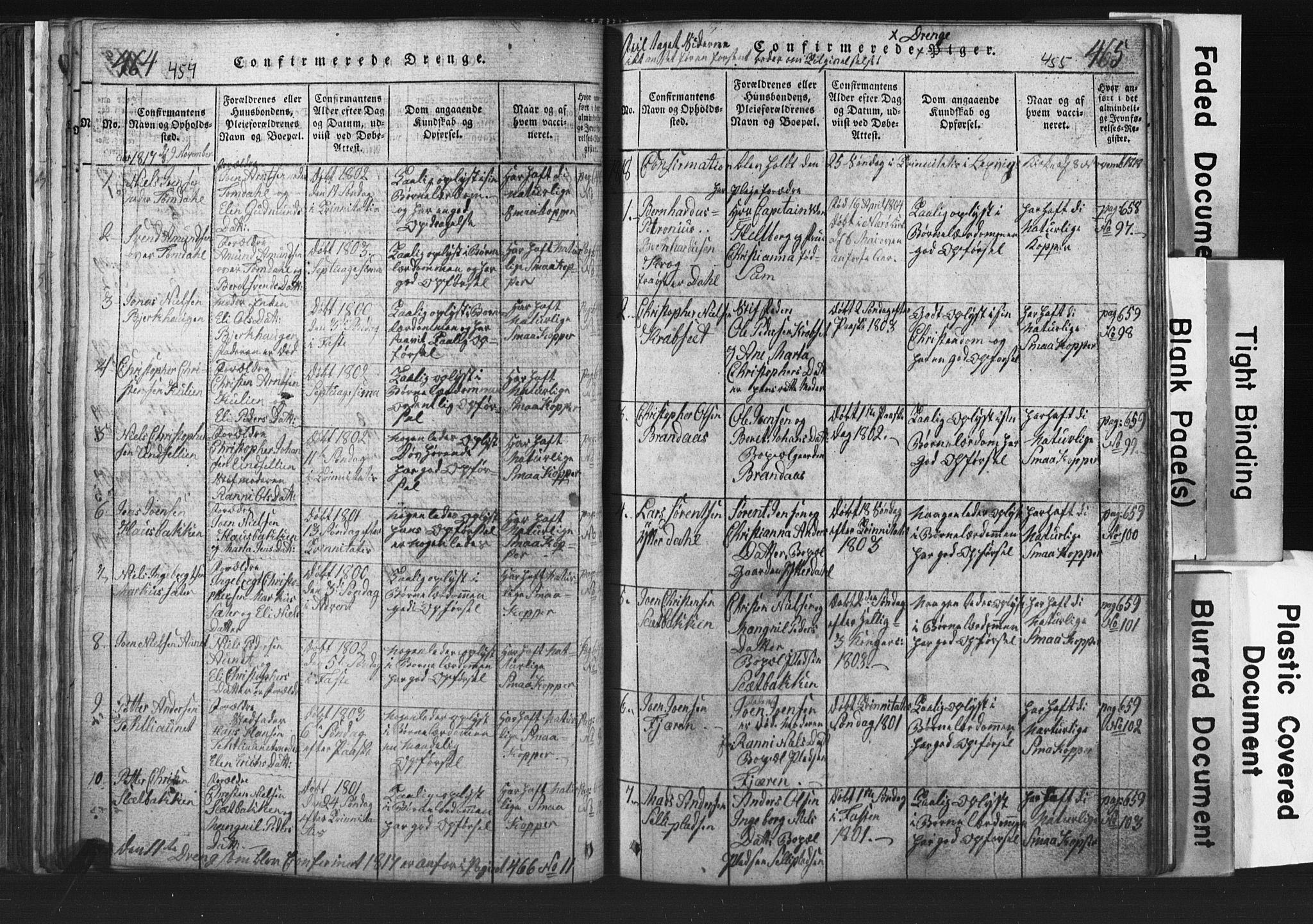 SAT, Ministerialprotokoller, klokkerbøker og fødselsregistre - Nord-Trøndelag, 701/L0017: Klokkerbok nr. 701C01, 1817-1825, s. 454-455