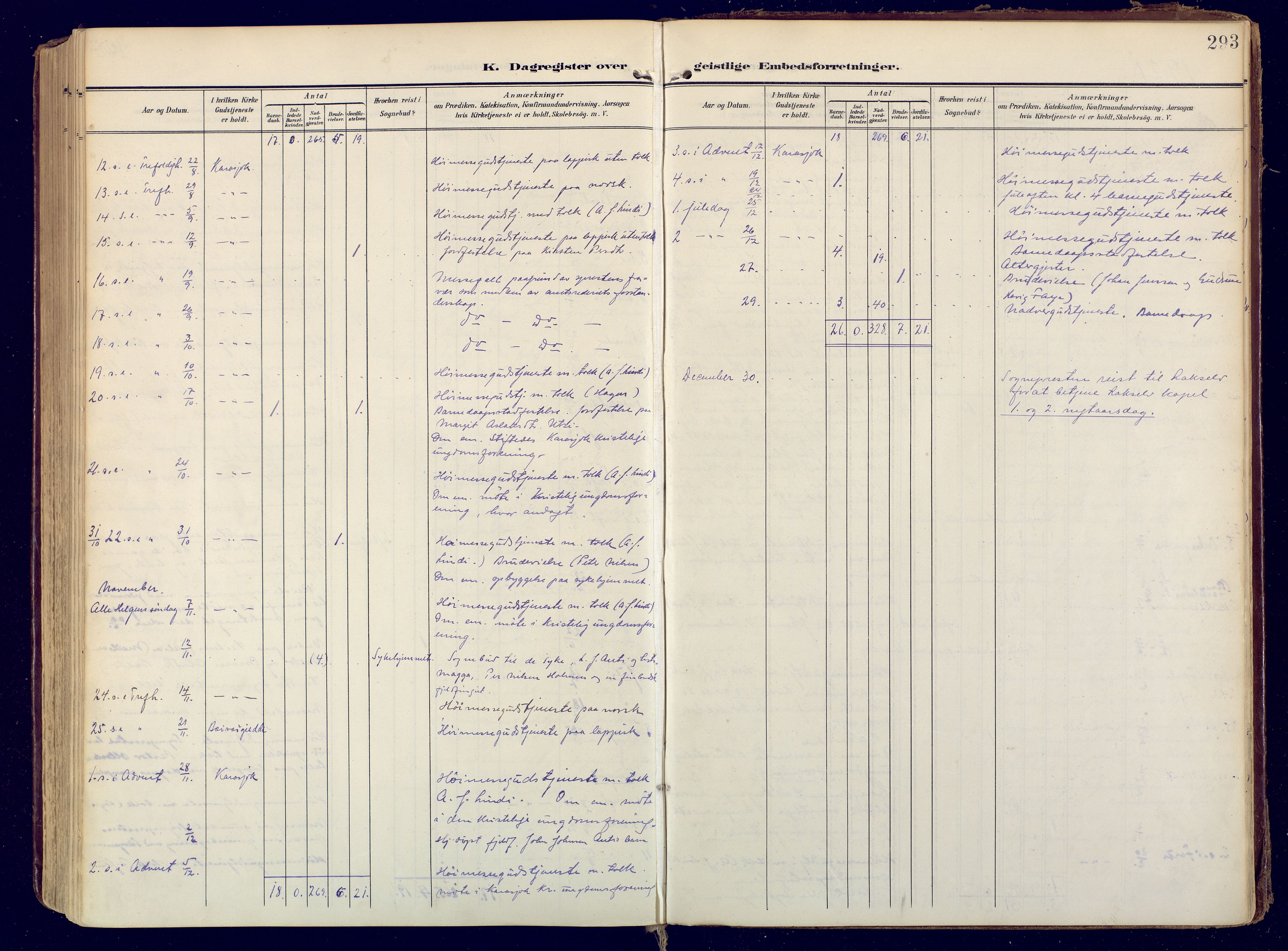 SATØ, Karasjok sokneprestkontor, H/Ha: Ministerialbok nr. 3, 1907-1926, s. 293