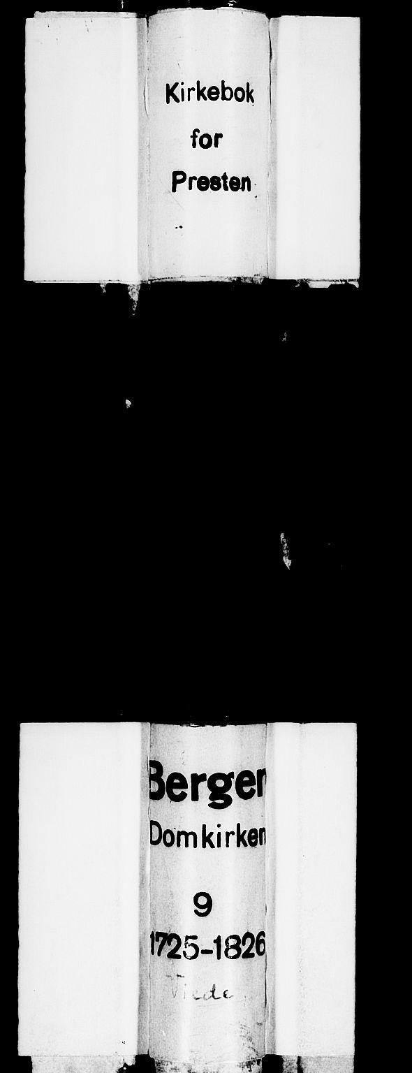 SAB, Domkirken sokneprestembete, H/Haa/L0007: Ministerialbok nr. A 7, 1725-1826