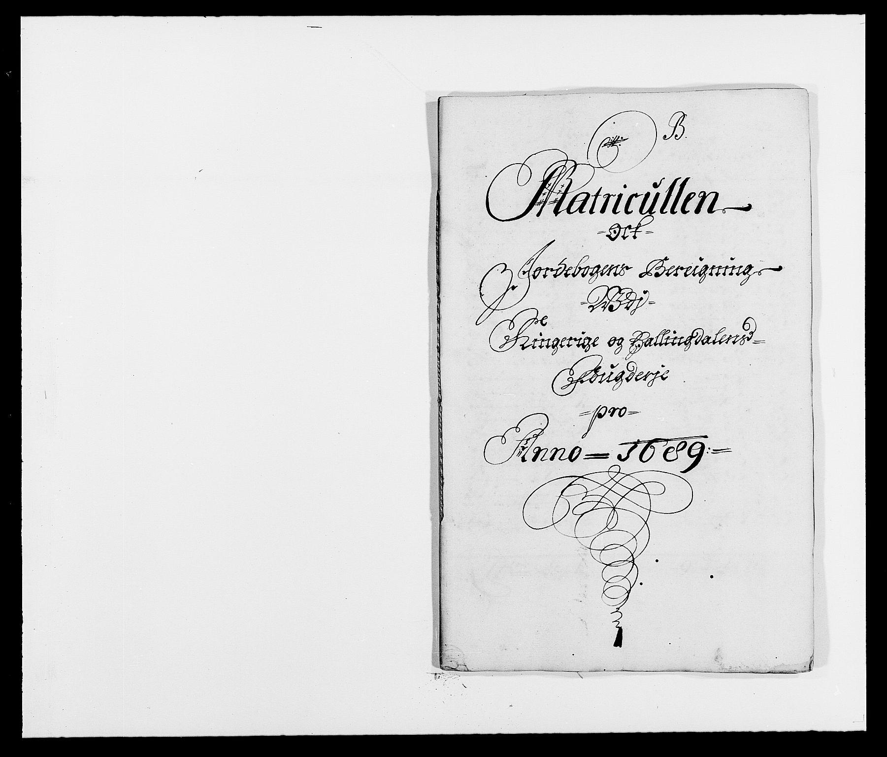 RA, Rentekammeret inntil 1814, Reviderte regnskaper, Fogderegnskap, R21/L1447: Fogderegnskap Ringerike og Hallingdal, 1687-1689, s. 272