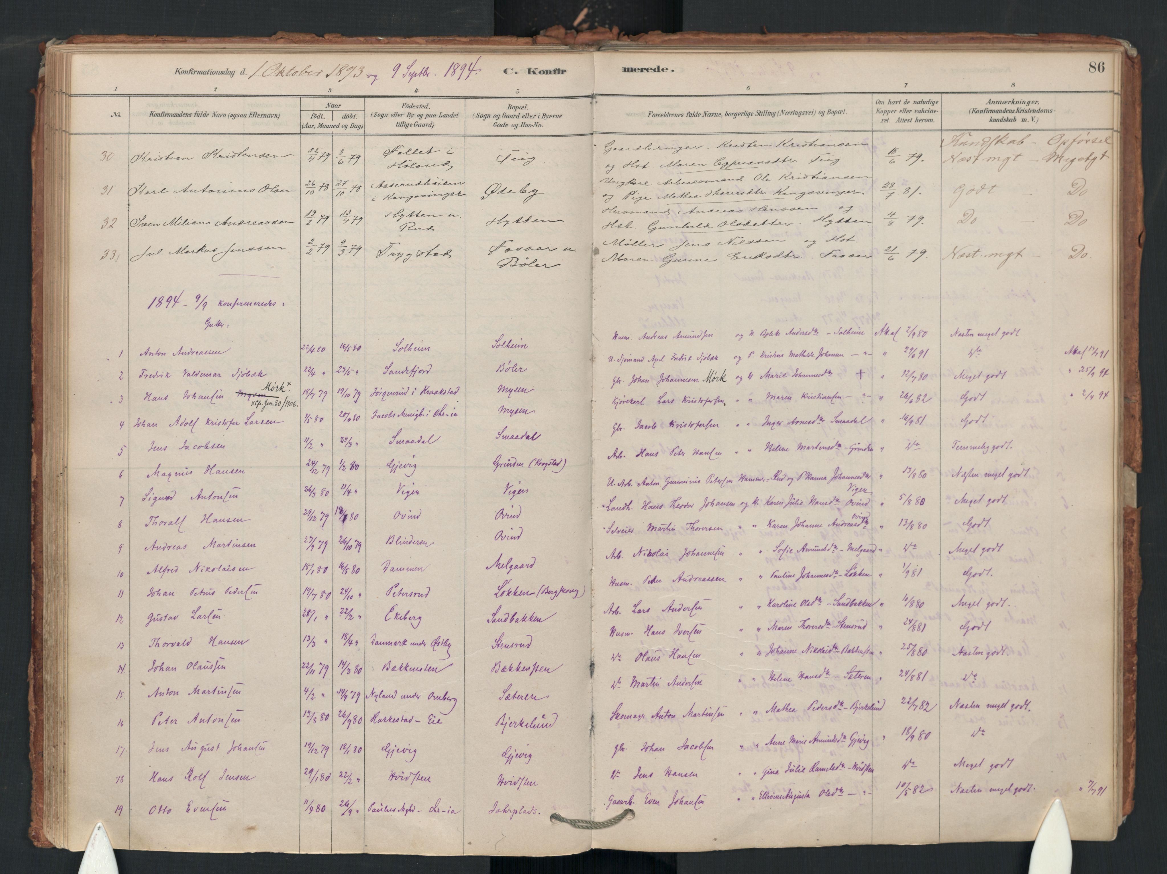 SAO, Enebakk prestekontor Kirkebøker, F/Fa/L0018: Ministerialbok nr. I 18, 1877-1930, s. 86