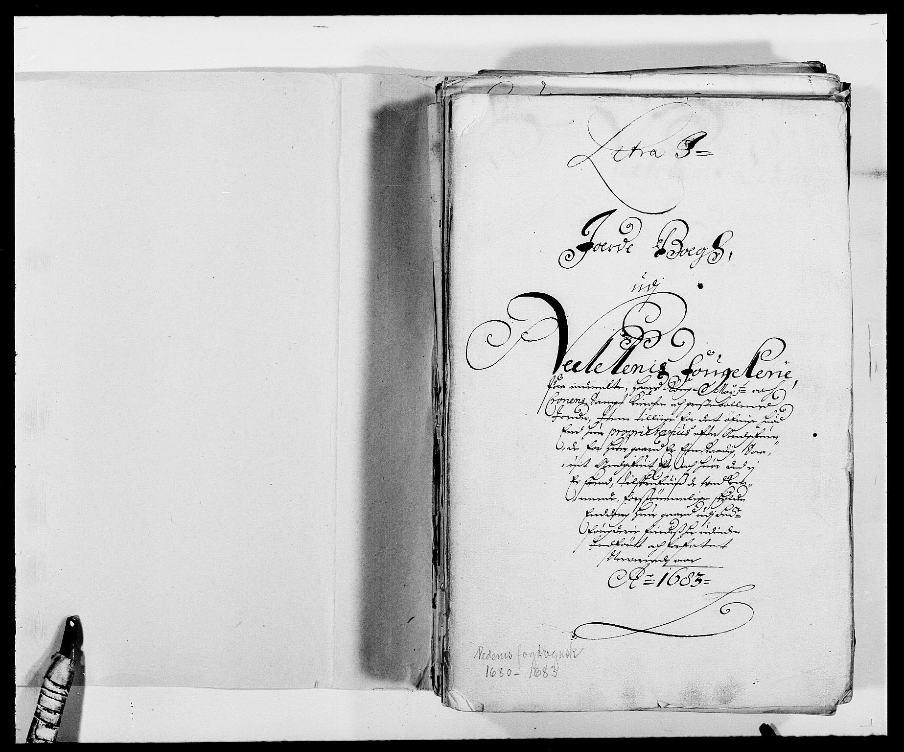 RA, Rentekammeret inntil 1814, Reviderte regnskaper, Fogderegnskap, R39/L2305: Fogderegnskap Nedenes, 1683, s. 2
