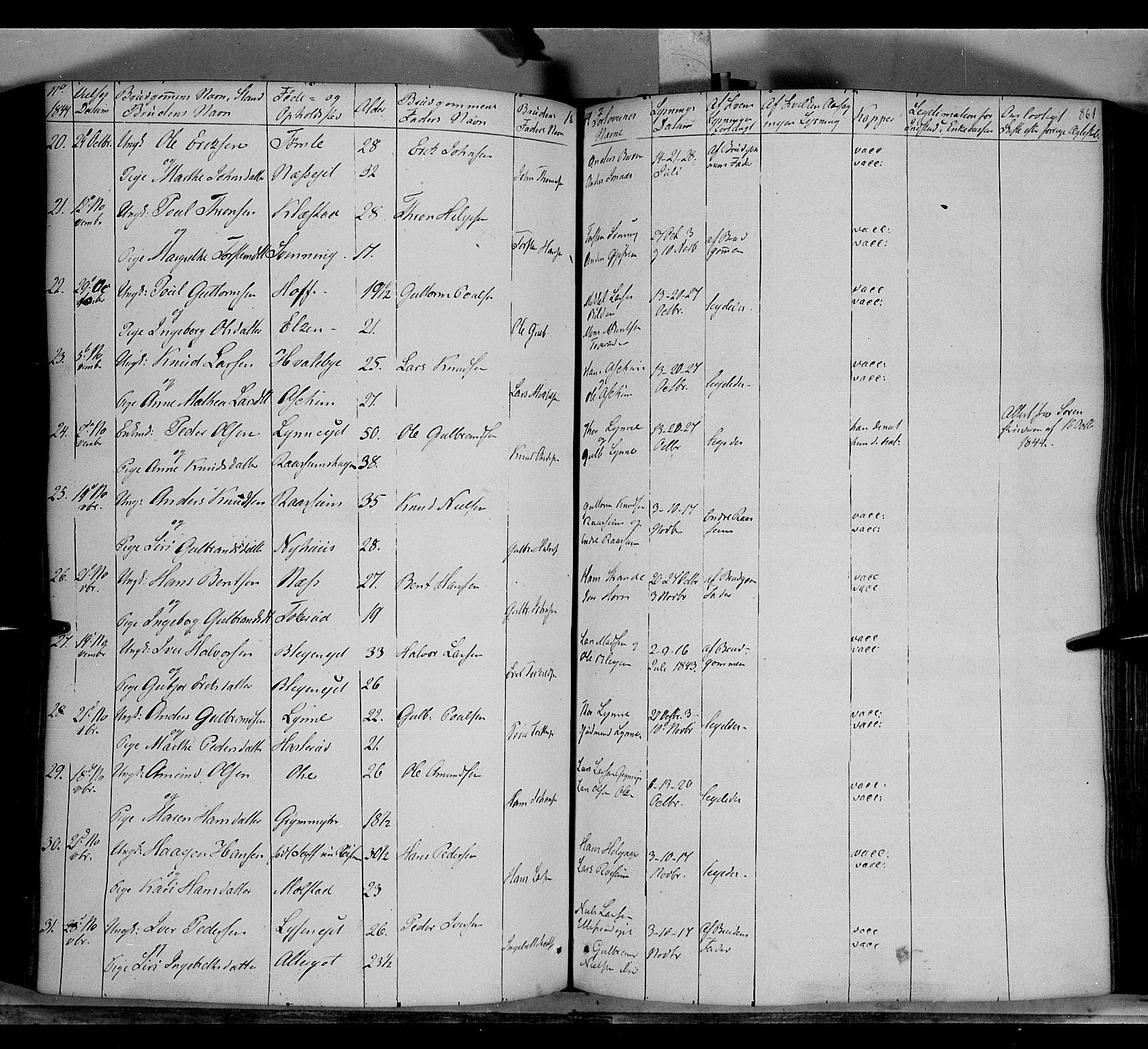 SAH, Gran prestekontor, Ministerialbok nr. 11, 1842-1856, s. 860-861