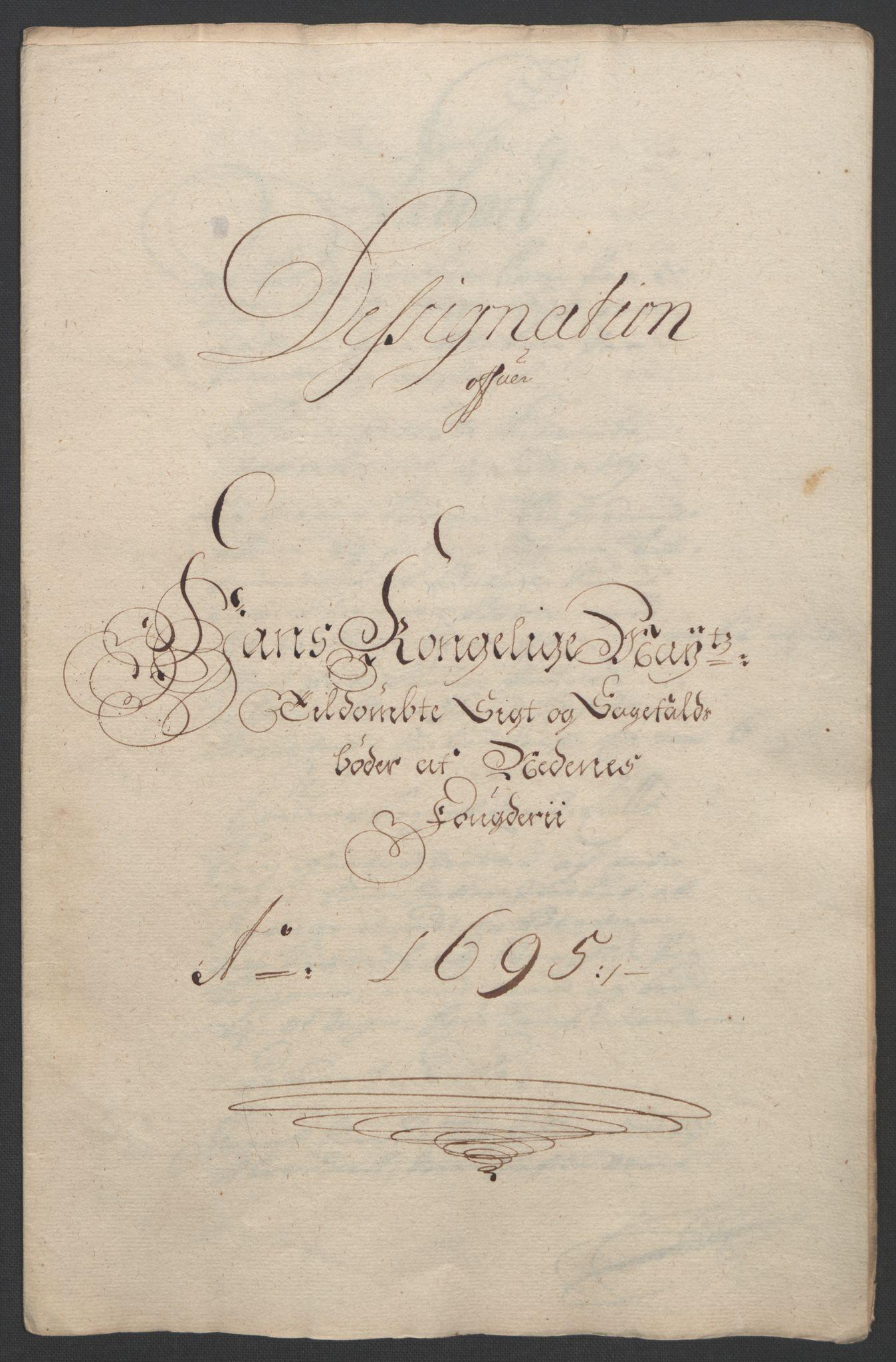 RA, Rentekammeret inntil 1814, Reviderte regnskaper, Fogderegnskap, R39/L2312: Fogderegnskap Nedenes, 1693-1695, s. 249