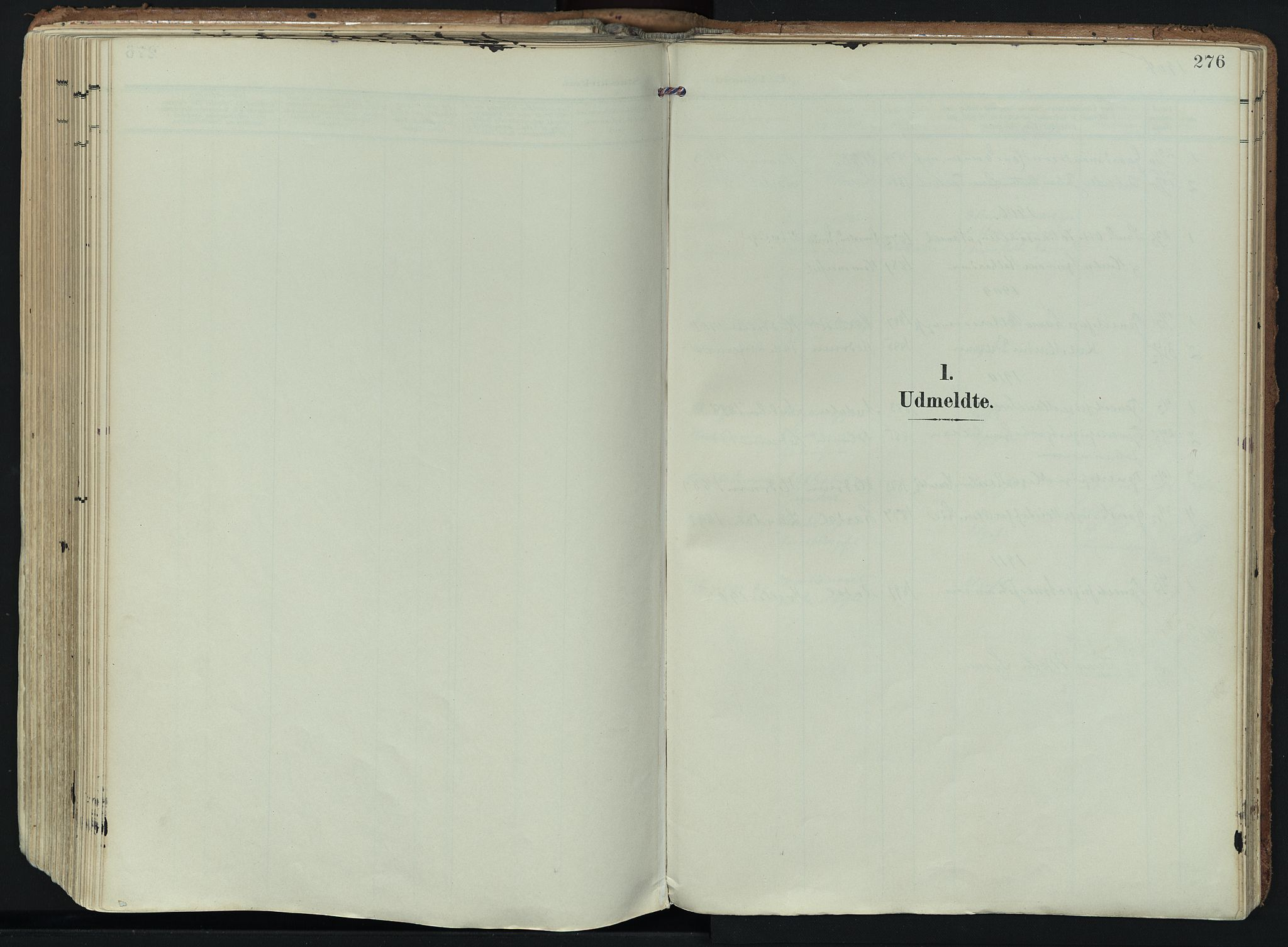 SAKO, Hedrum kirkebøker, F/Fa/L0010: Ministerialbok nr. I 10, 1904-1918, s. 276